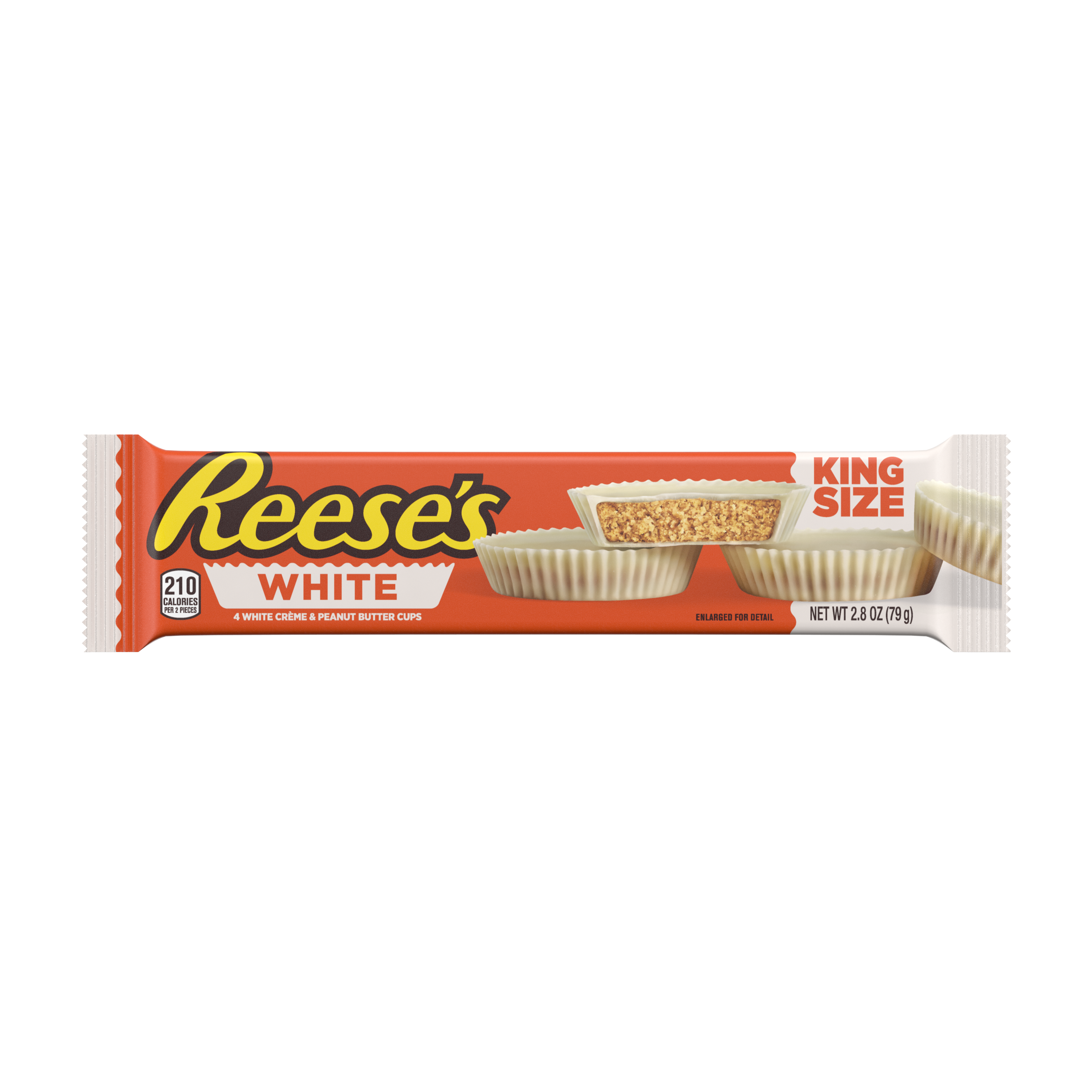 REESE'S White Creme King Size Peanut Butter Cups, 2.8 oz - Front of Package