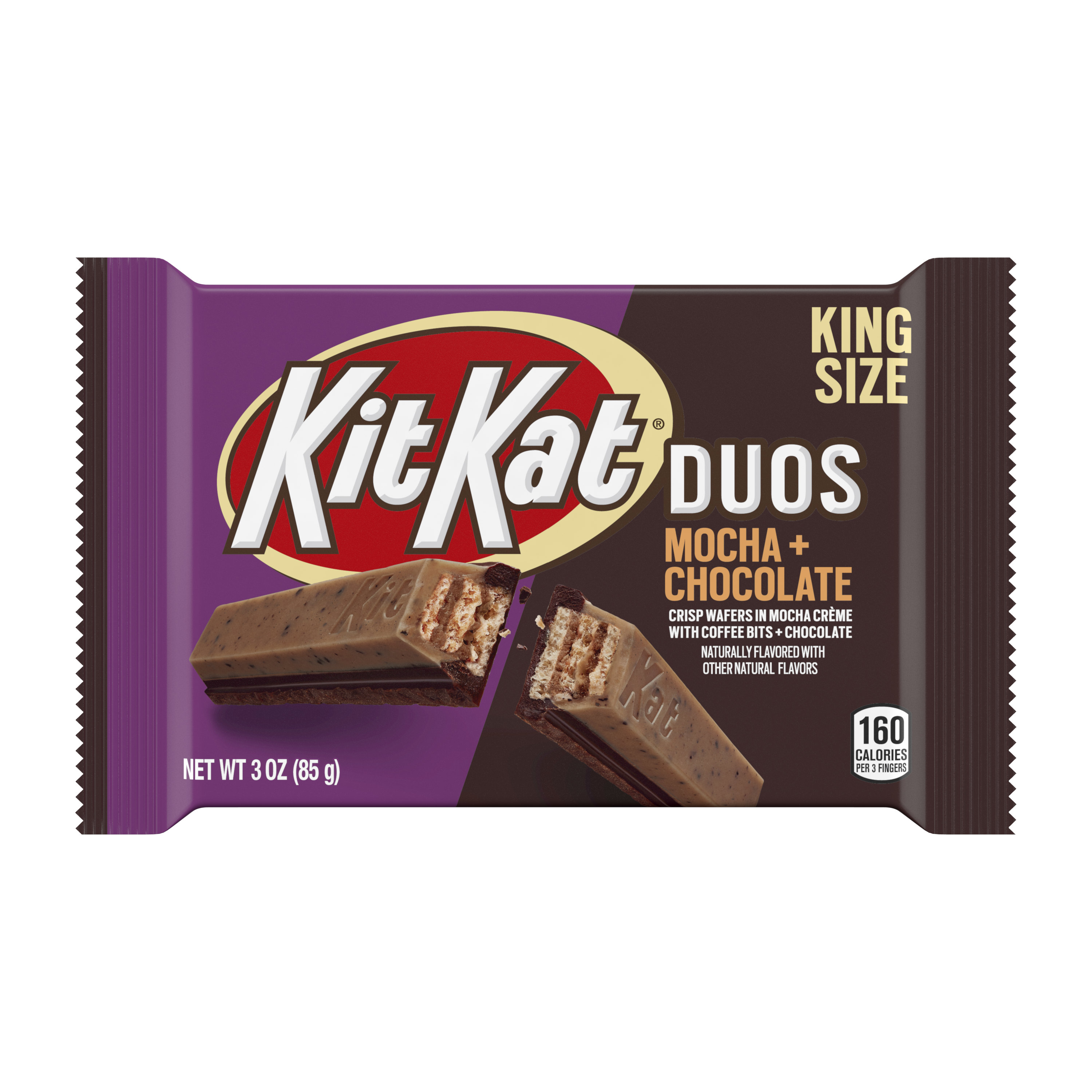 KIT KAT® DUOS Mocha and Chocolate King Size Candy Bar, 3 oz - Front of Package