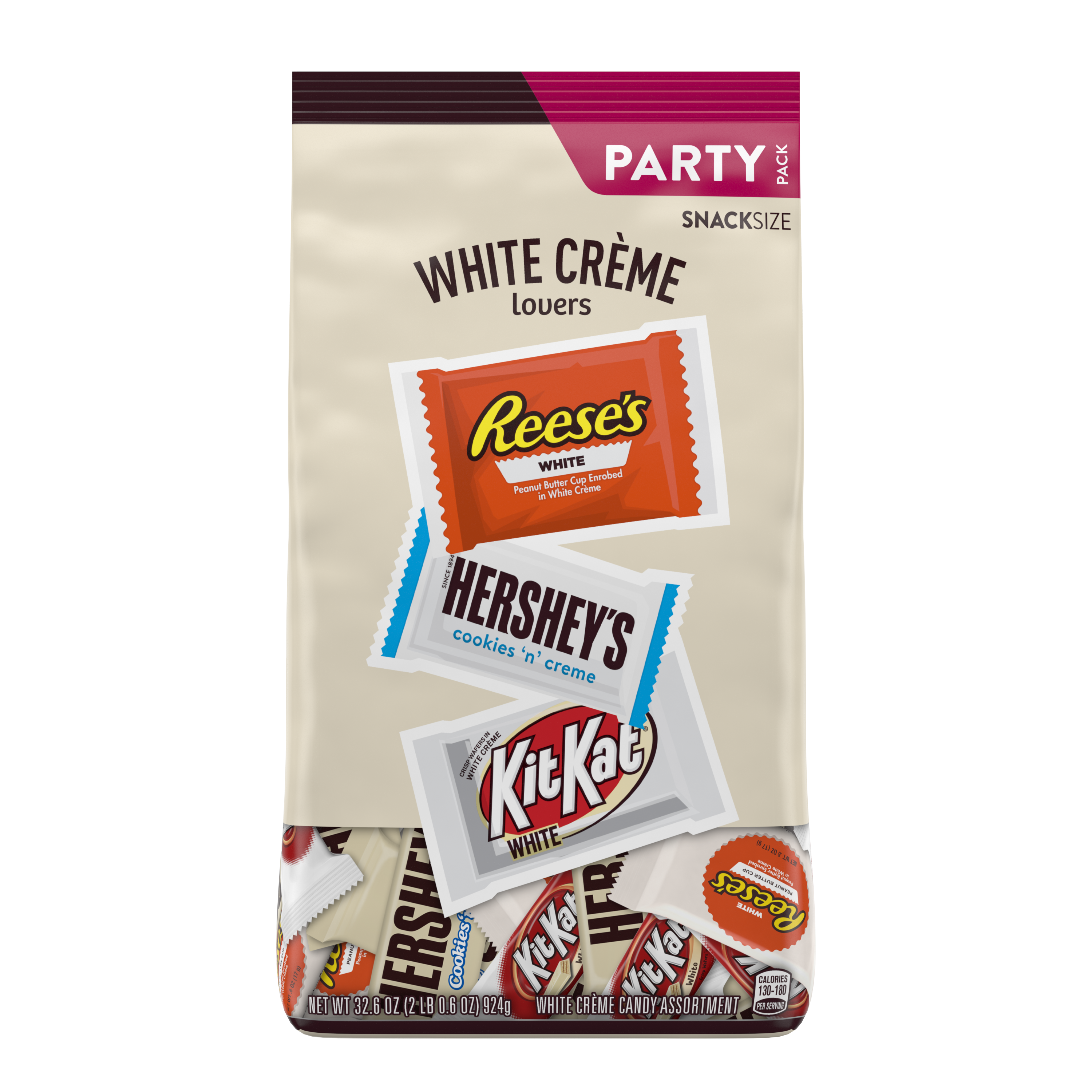 Hershey White Creme Lovers Snack Size Assortment, 32.6 oz pack - Front of Package