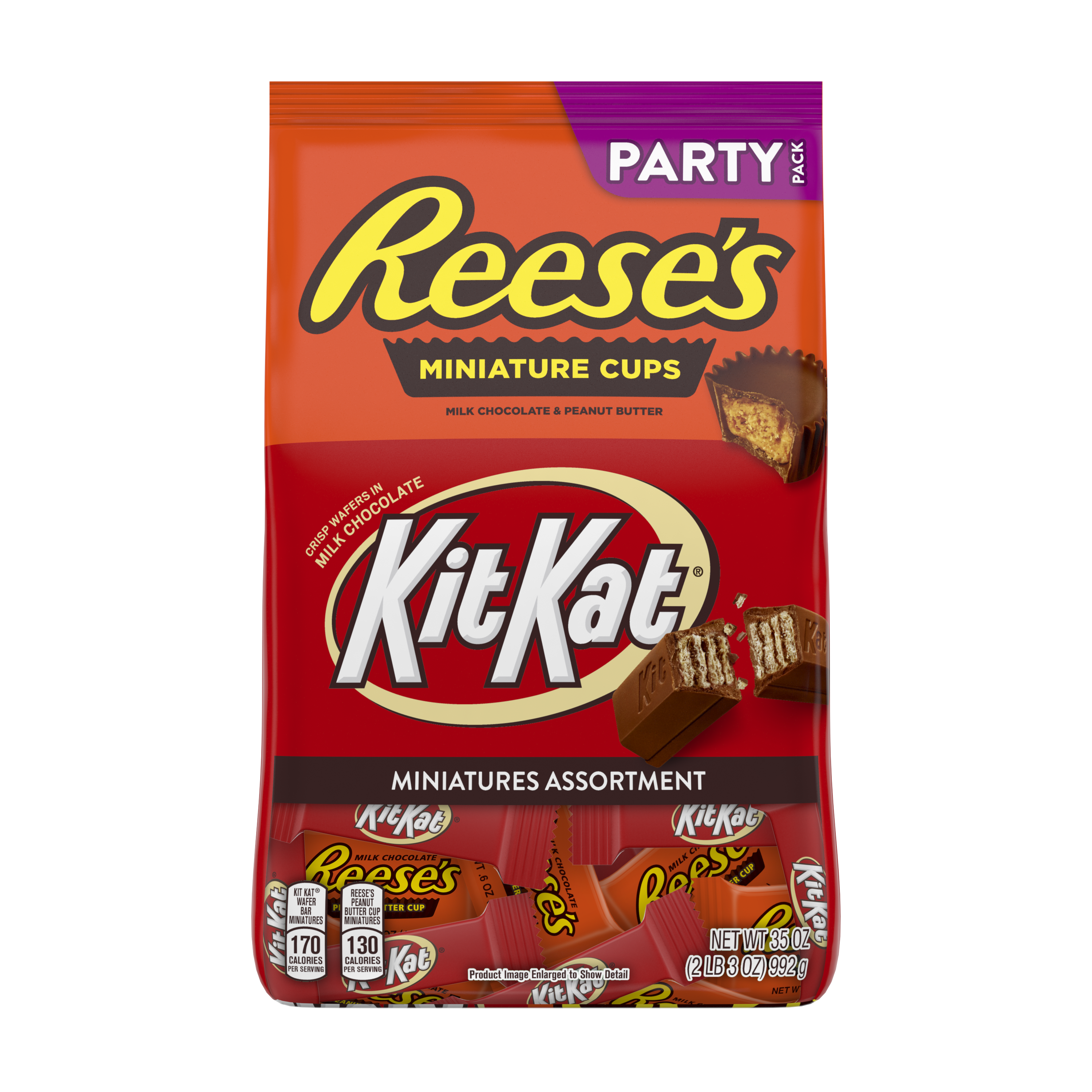 REESE'S & KIT KAT® Miniatures Assortment, 35 oz pack - Front of Package