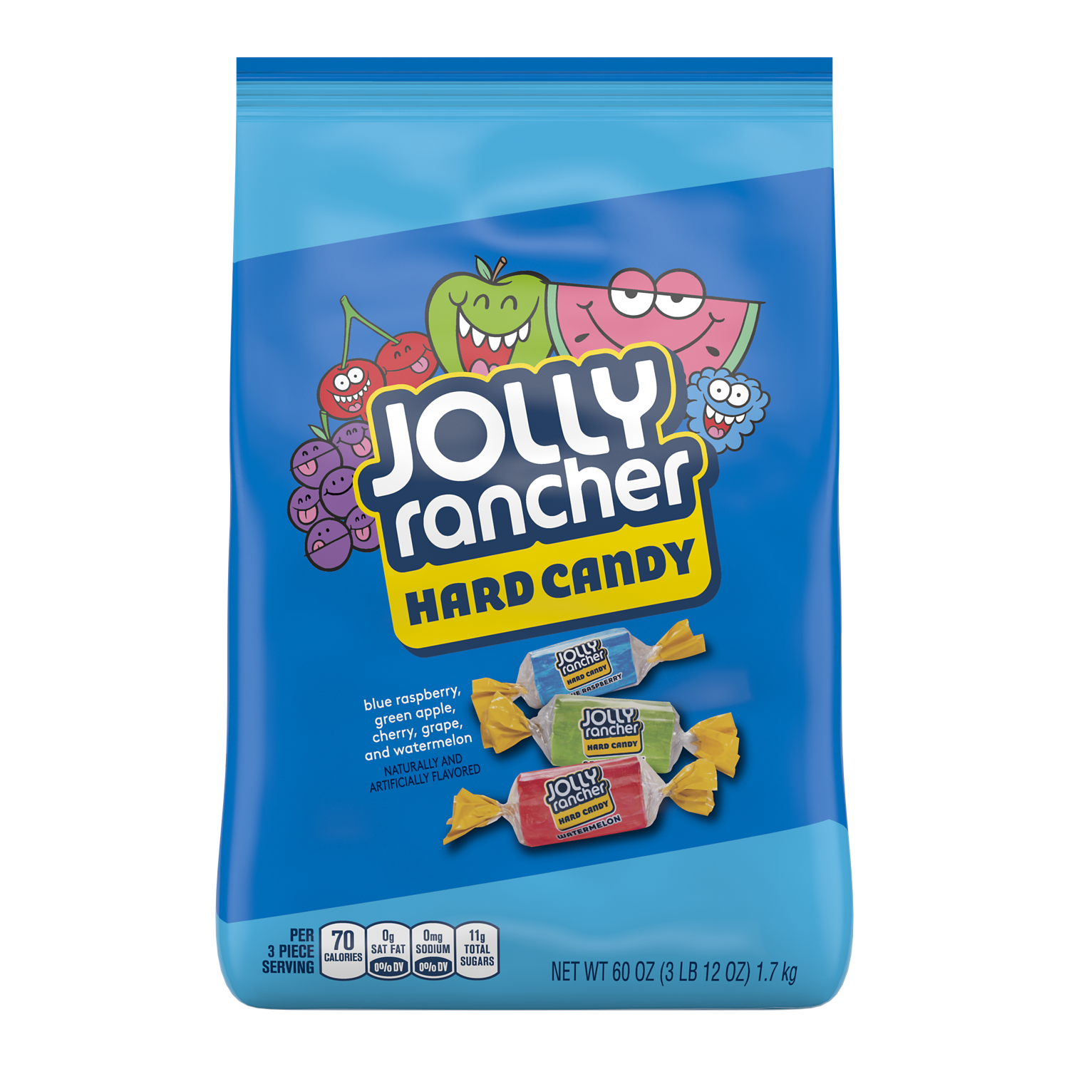 JOLLY RANCHER Original Flavors Hard Candy, 60 oz bag - Front of Package