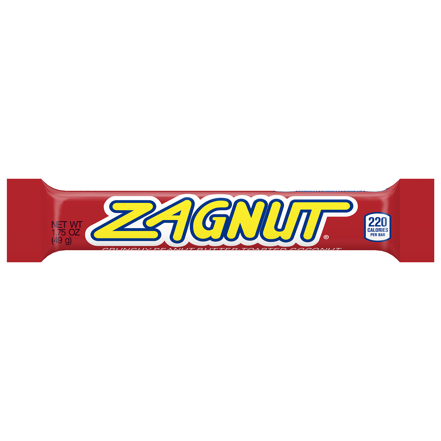 ZAGNUT Peanut Butter and Coconut Candy Bar, 1.75 oz - Front of Package
