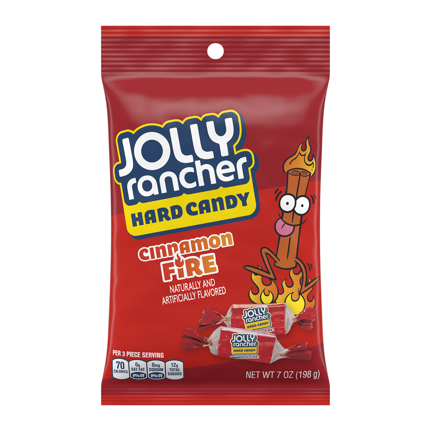 JOLLY RANCHER Cinnamon Fire Hard Candy, 7 oz bag - Front of Package