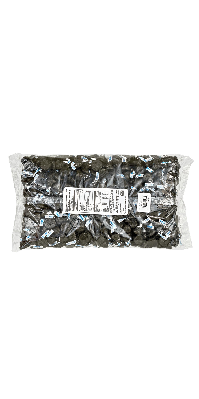CancelSave & Close  HERSHEY'S KISSES Black Foil Milk Chocolate Candy, 66.7 oz bag - Back of Package