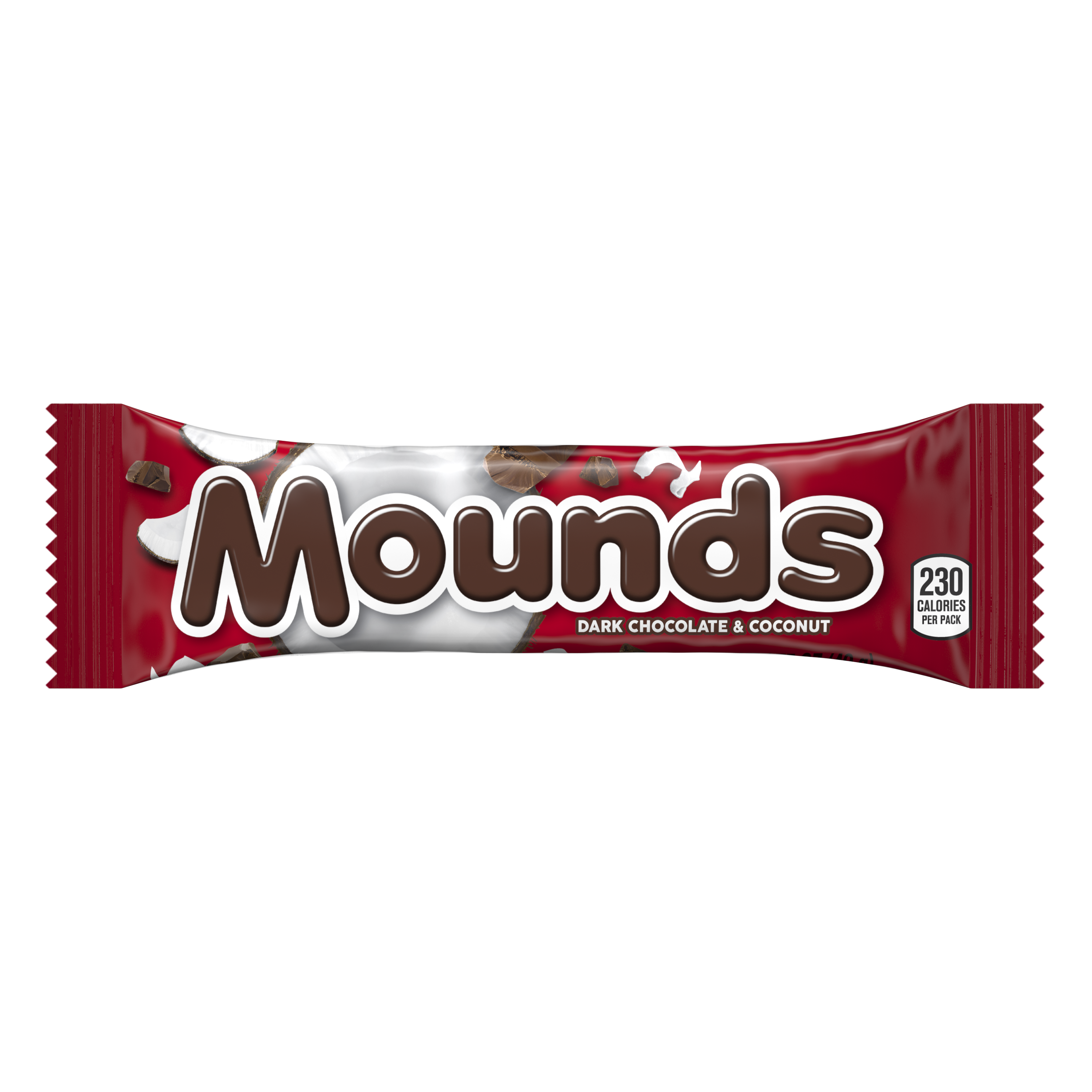 MOUNDS Dark Chocolate and Coconut Candy Bar, 1.75 oz - Front of Package