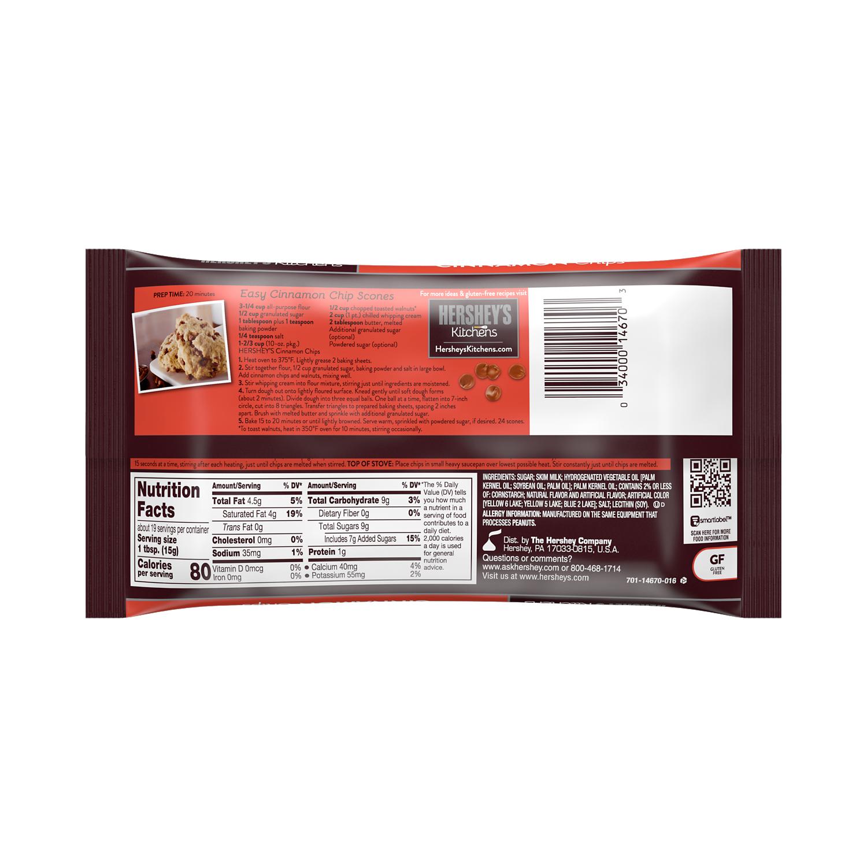 HERSHEY'S Cinnamon Chips, 10 oz bag - Back of Package