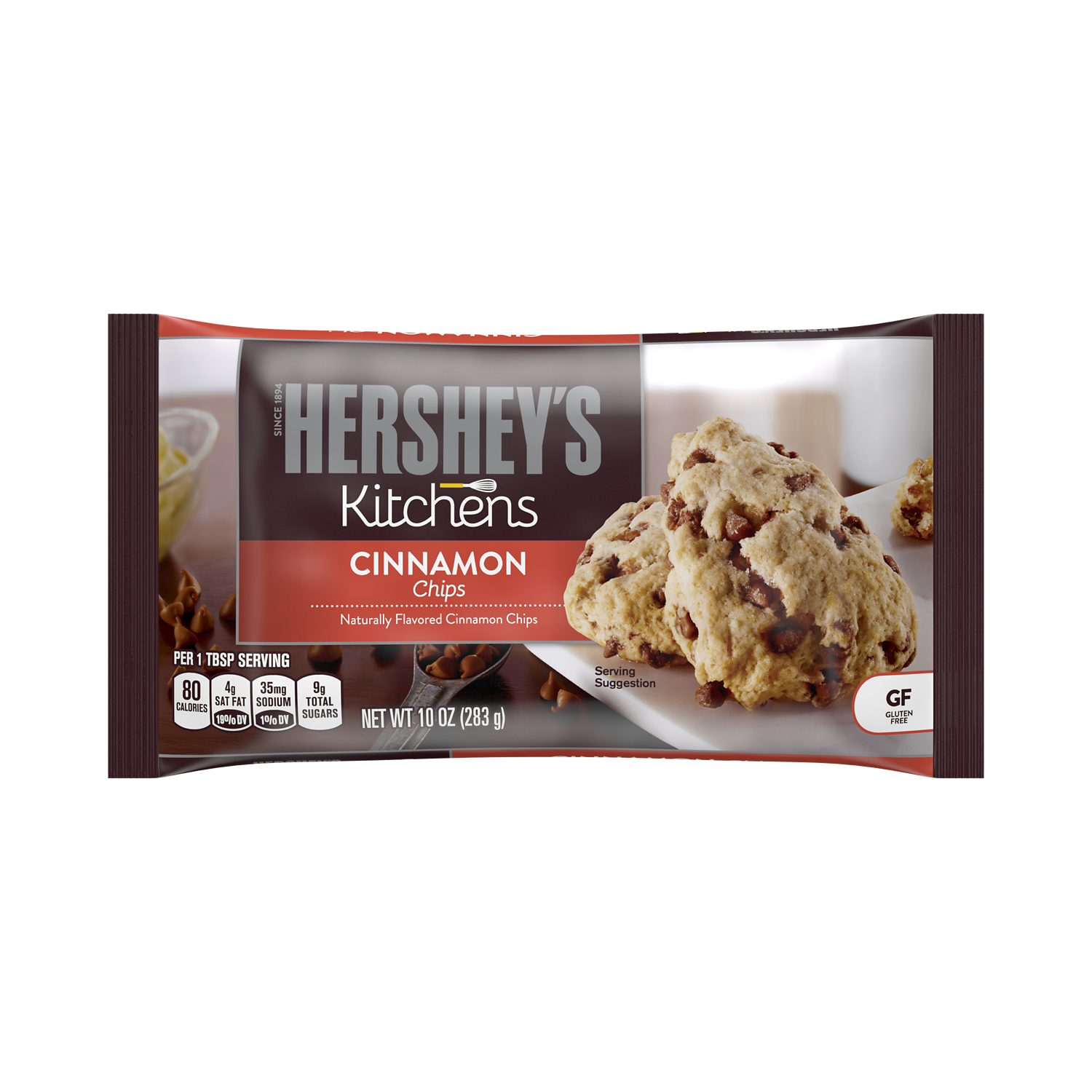 HERSHEY'S Cinnamon Chips, 10 oz bag - Front of Package