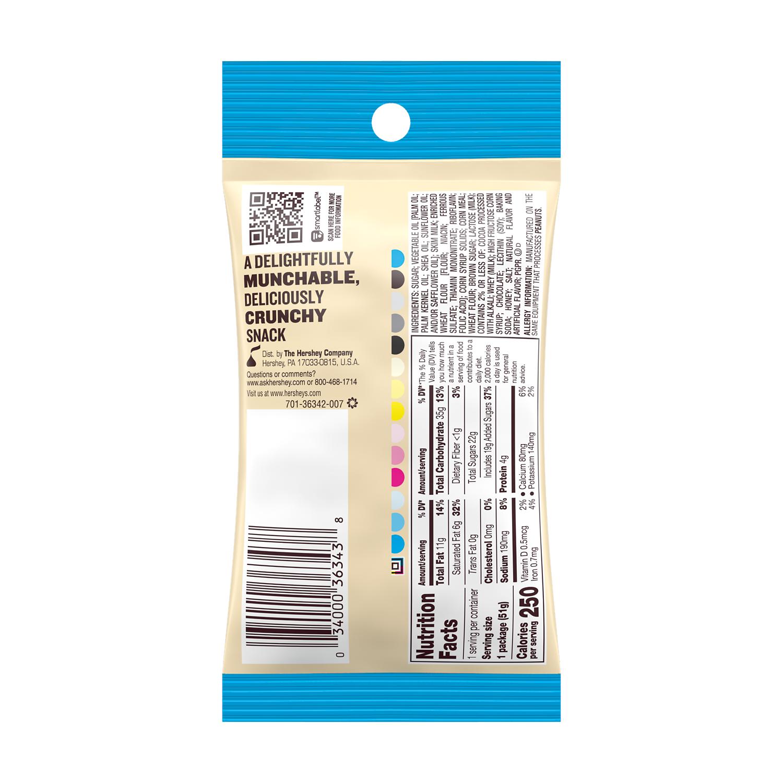 HERSHEY'S COOKIES 'N' CREME CRUNCHERS Snack, 1.8 oz tube - Back of Package