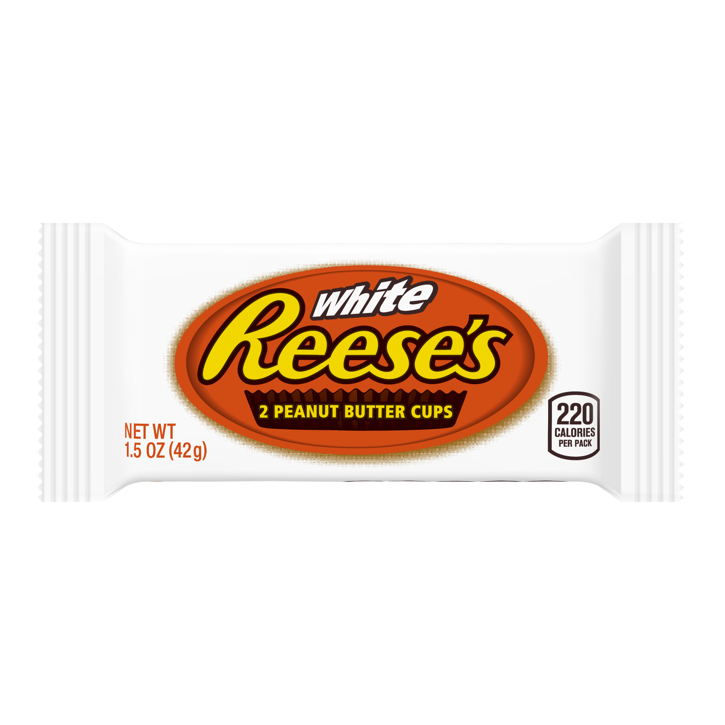 REESE'S White Creme Peanut Butter Cups, 1.5 oz - Front of Package