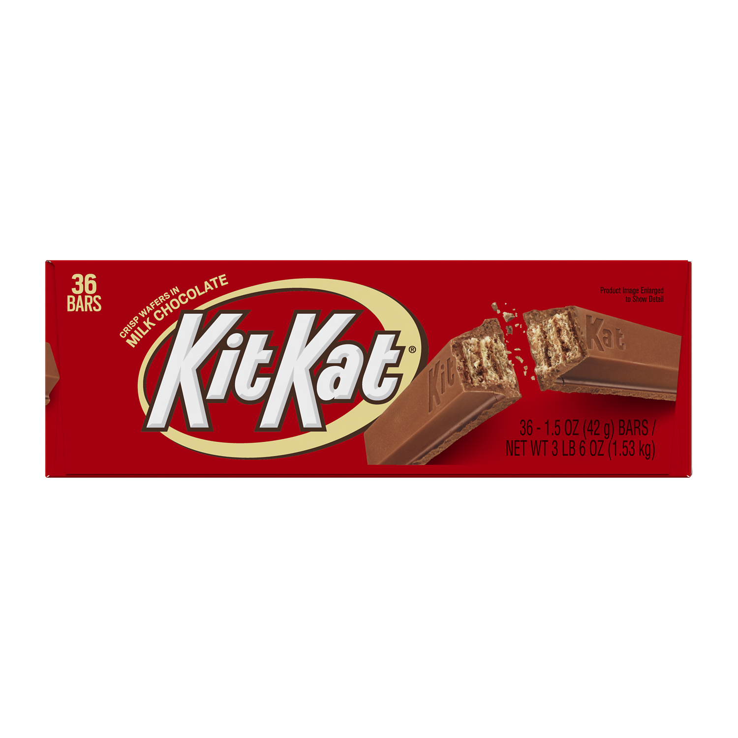 KIT KAT® Milk Chocolate Candy Bars, 1.5 oz box, 36 pack - Front of Package