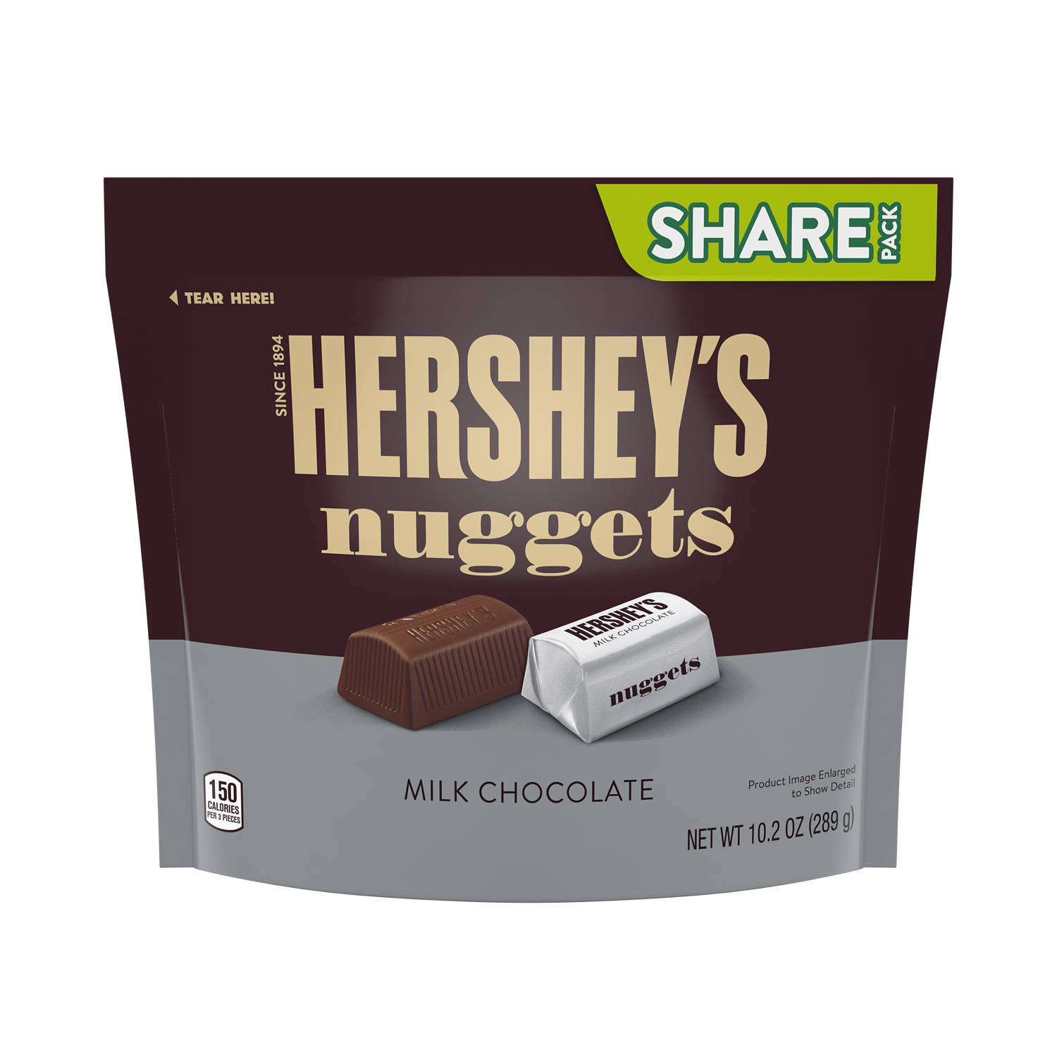 HERSHEY'S NUGGETS Milk Chocolate Candy, 10.2 oz pack - Front of Package