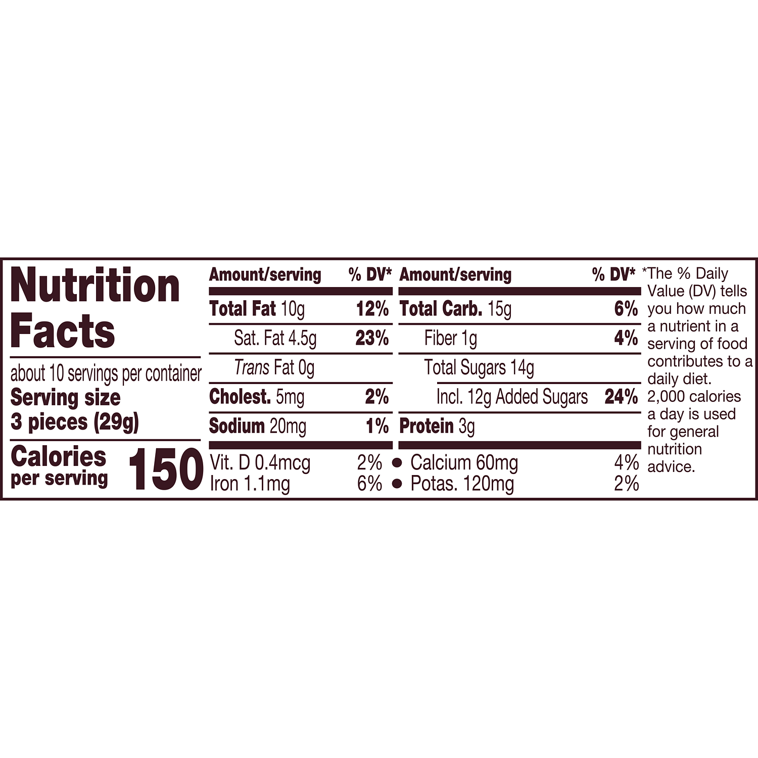 HERSHEY'S NUGGETS Milk Chocolate with Almonds Candy, 10.1 oz pack - Nutritional Facts