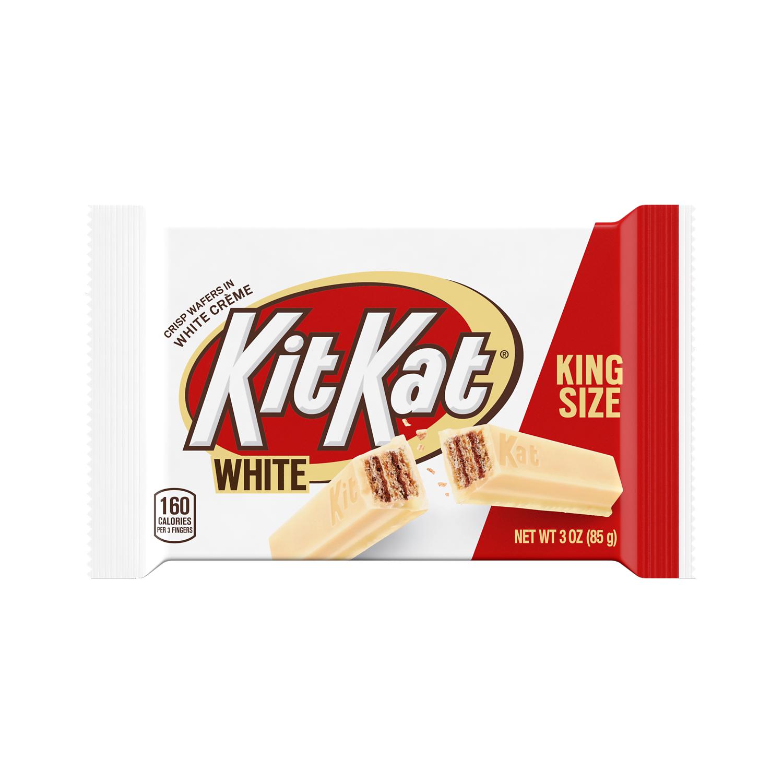 KIT KAT® White Creme King Size Candy Bar, 3 oz - Front of Package