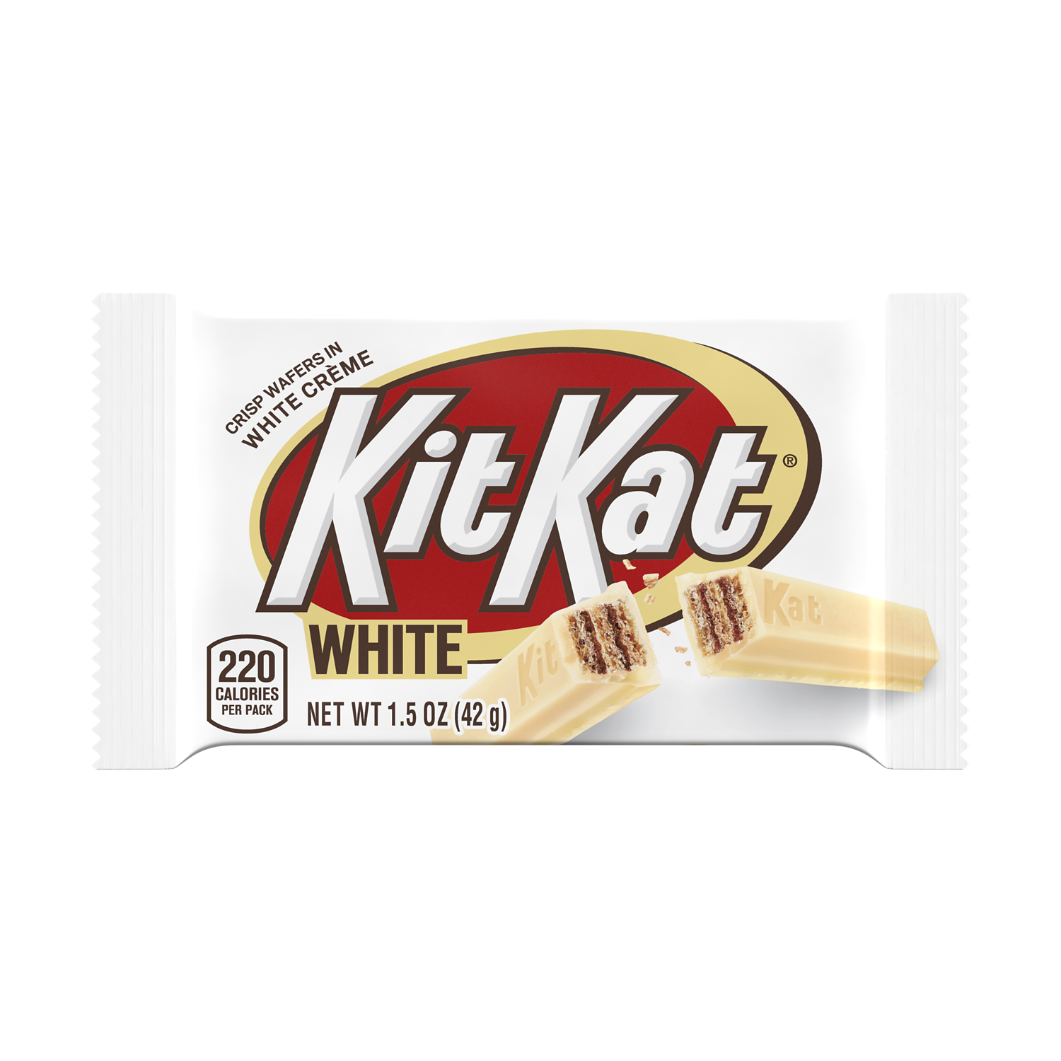 KIT KAT® White Creme Candy Bar, 1.5 oz - Front of Package