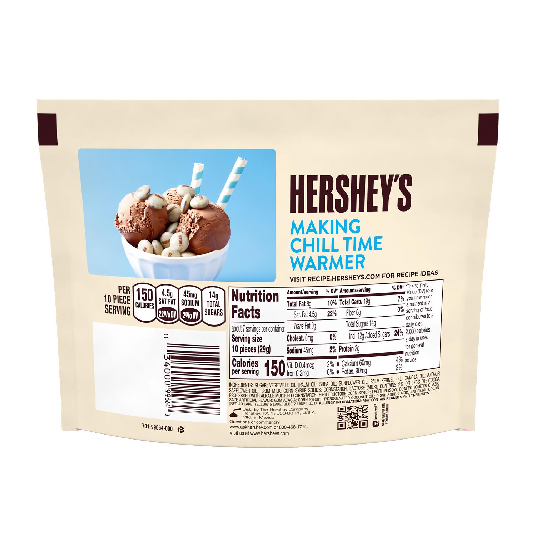 HERSHEY'S DROPS COOKIES 'N' CREME Candy, 7.6 oz bag - Back of Package