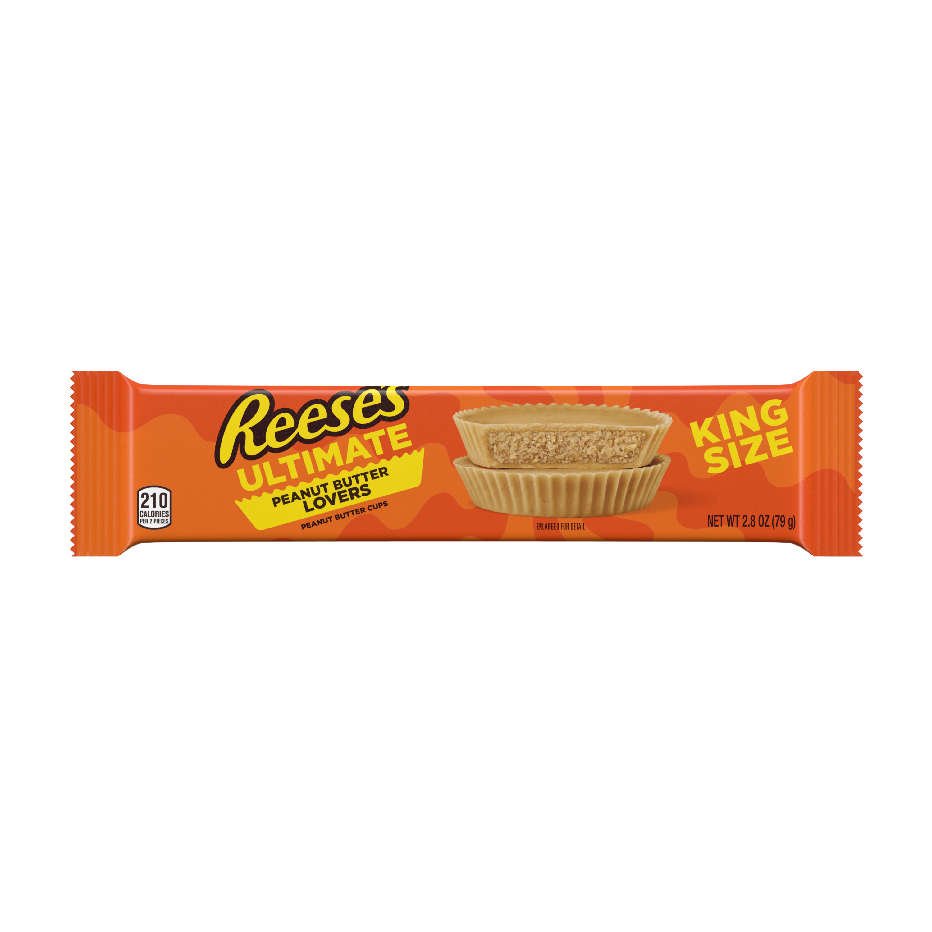 REESE'S Ultimate Peanut Butter Lovers King Size Peanut Butter Cups, 2.8 oz - Front of Package