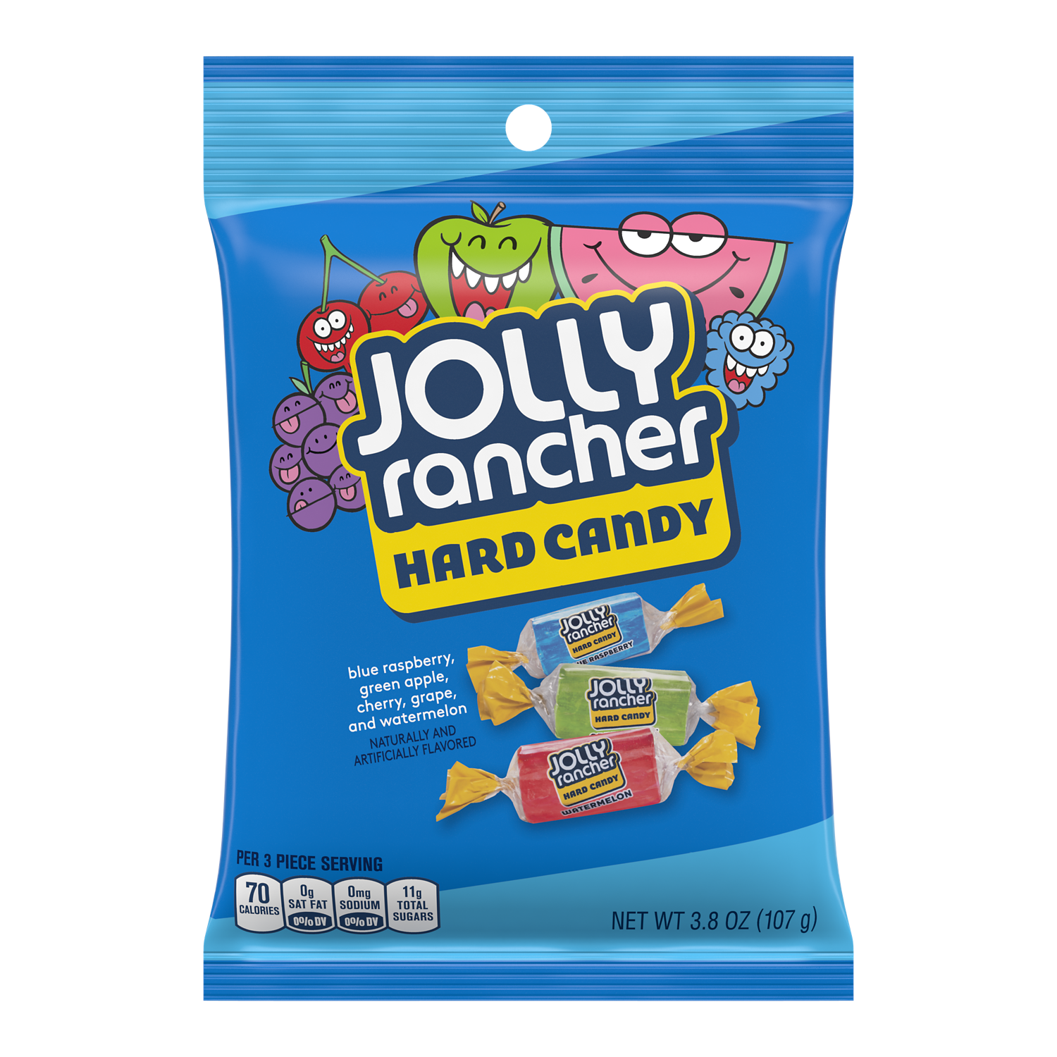 JOLLY RANCHER Original Flavors Hard Candy, 3.8 oz bag - Front of Package