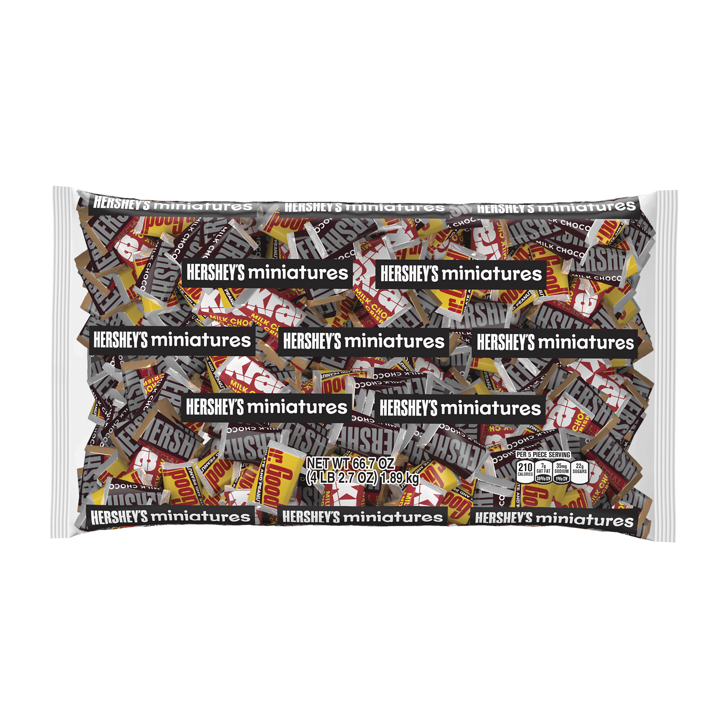 HERSHEY'S Miniatures Assortment, 66.7 oz bag - Front of Package