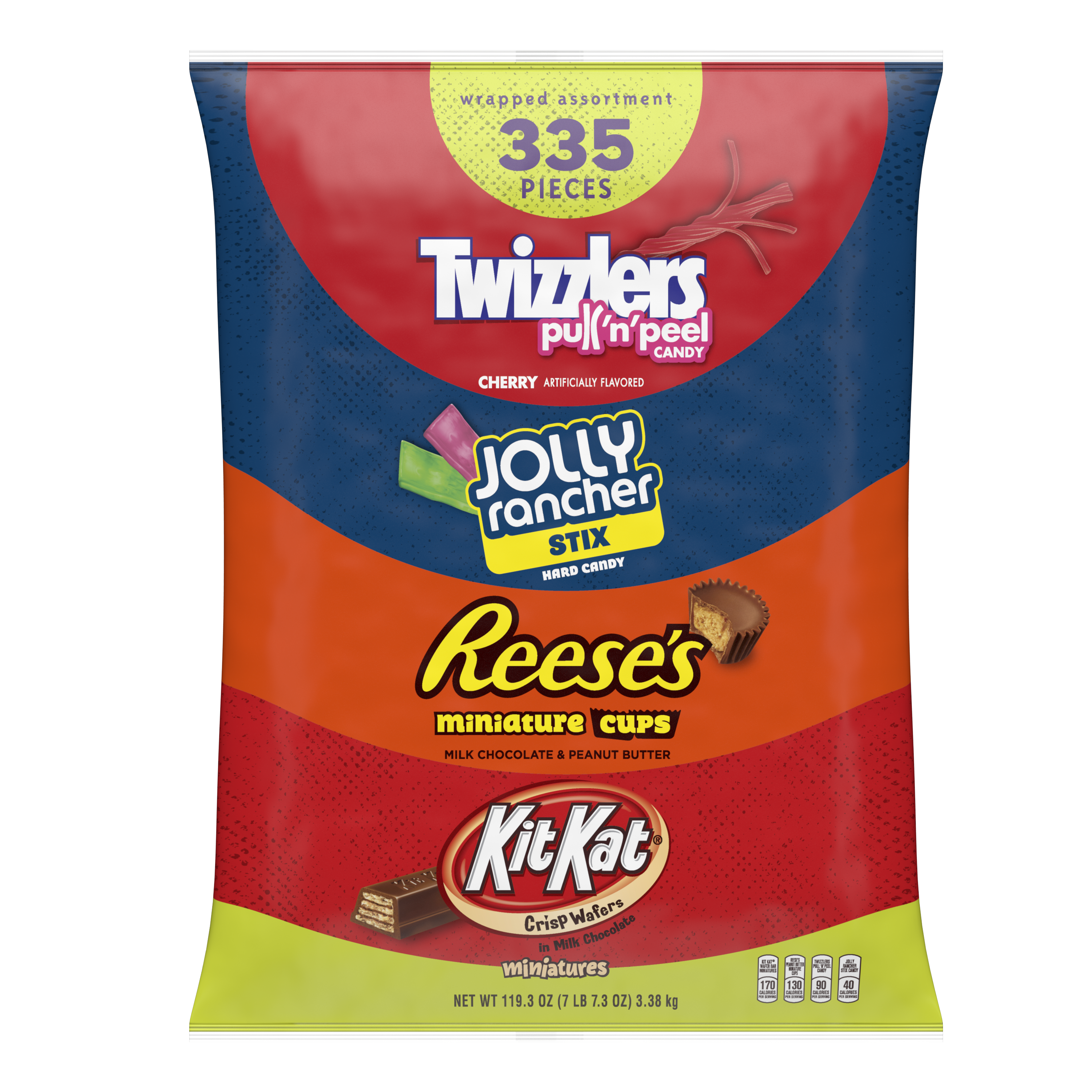 Hershey Sweet Wrapped Assortment, 119.3 oz bag, 335 pieces - Front of Package