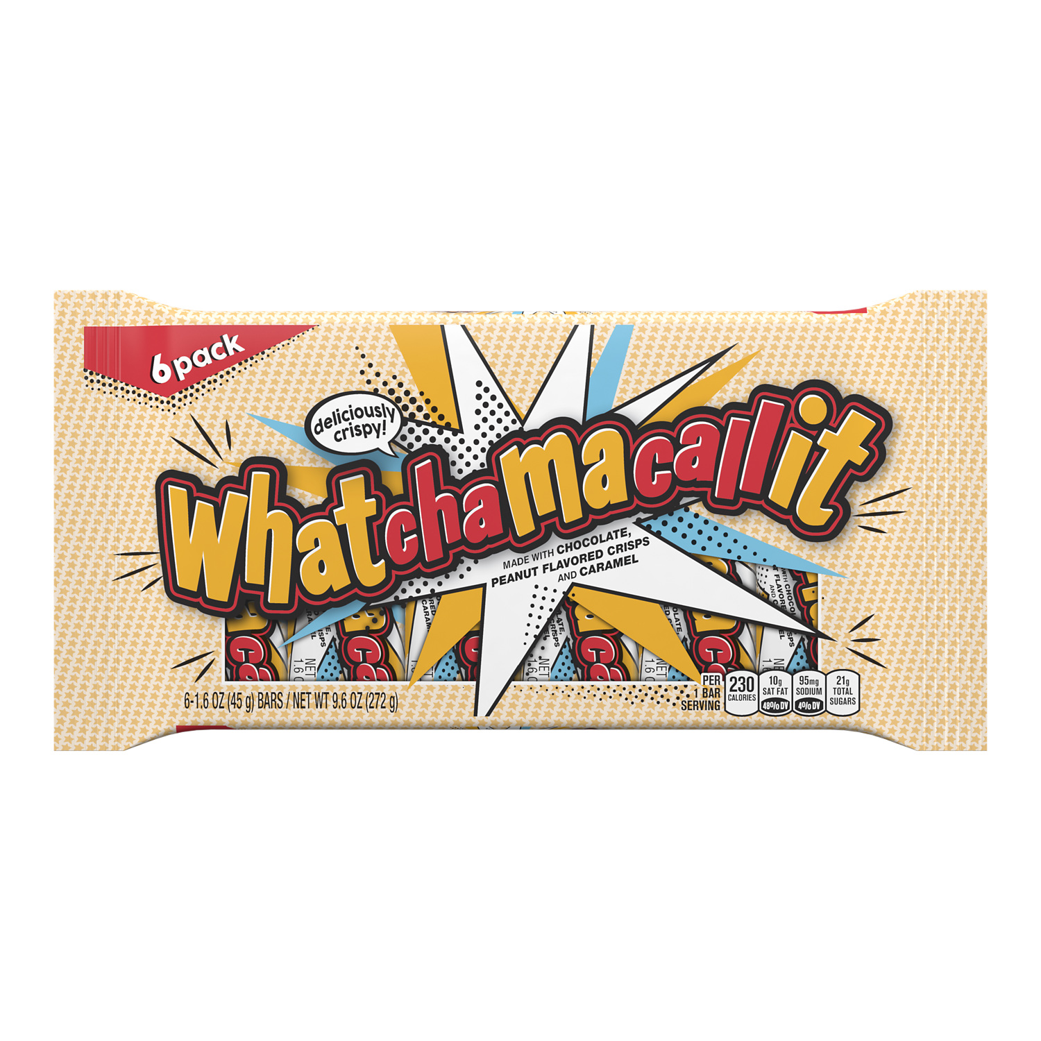 WHATCHAMACALLIT Candy Bars, 9.9 oz, 6 pack - Front of Package