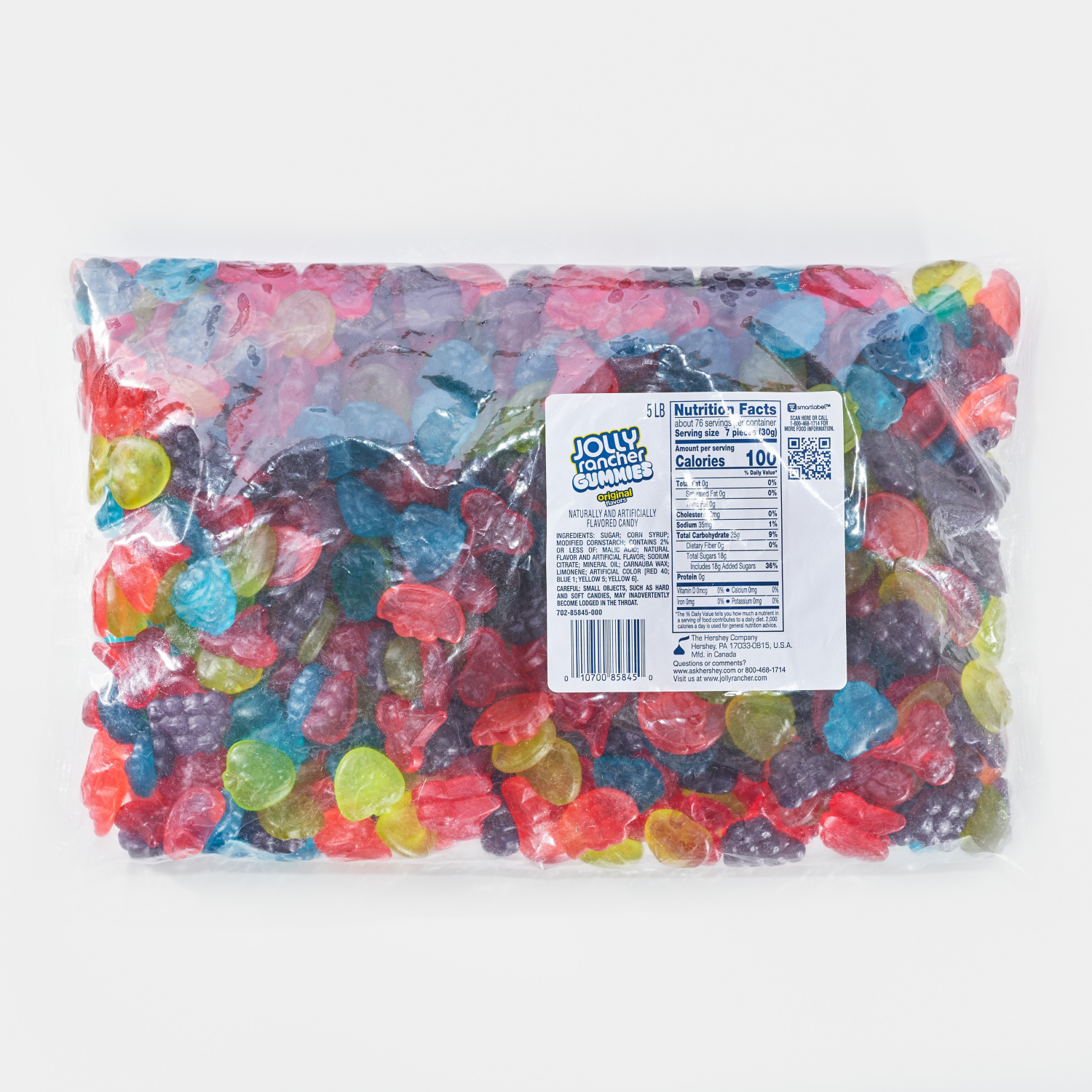JOLLY RANCHER Gummies Original Flavors, 80 oz bag - Front of Package