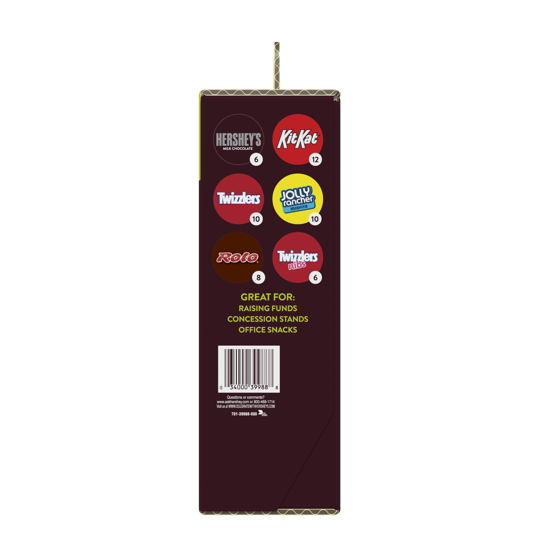 Hershey Chocolate & Sweets Fund Raising Kit, 97.4 oz box, 52 bars - Back of Package