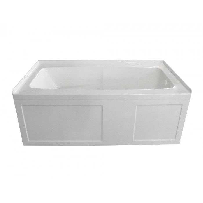 Valley Oro 66x30 Skirted Tub With Left-hand Drain | The Amamex Canada