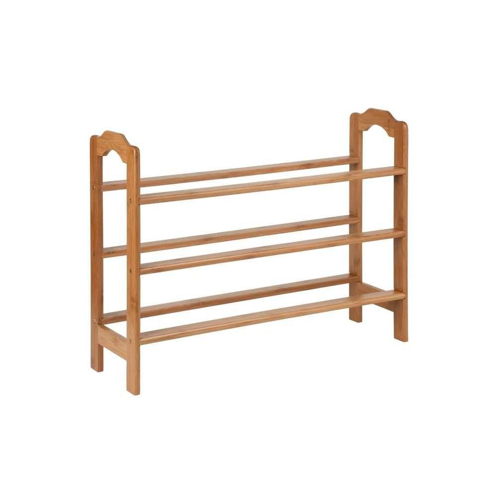 Honey Can Do  Tier Bamboo Shoe Rack The Home Depot Canada