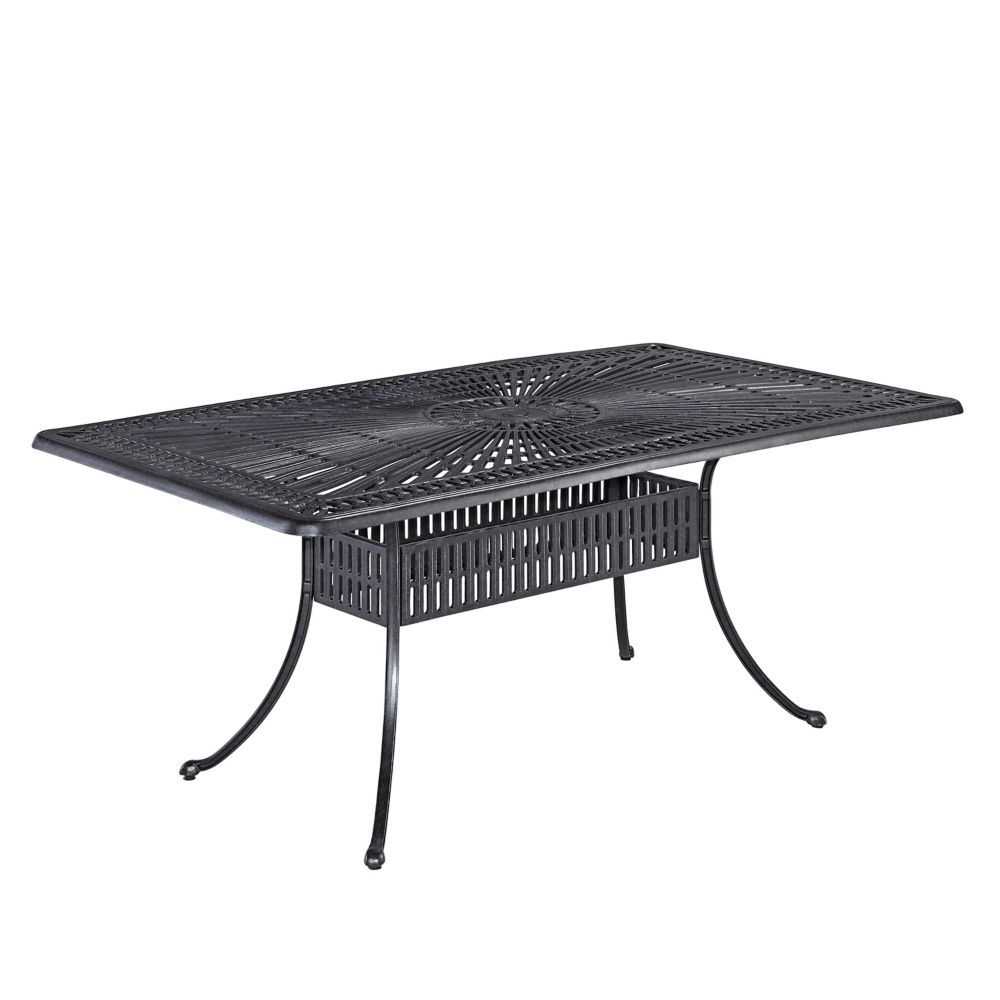 Home Styles Largo Rectangular Outdoor Dining Table In Charcoal The - White rectangular outdoor dining table