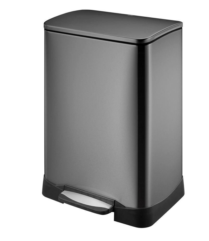 hdx 50l black stainless steel step trash can the home depot canada rh homedepot ca stainless steel kitchen trash can costco stainless steel kitchen trash can amazon