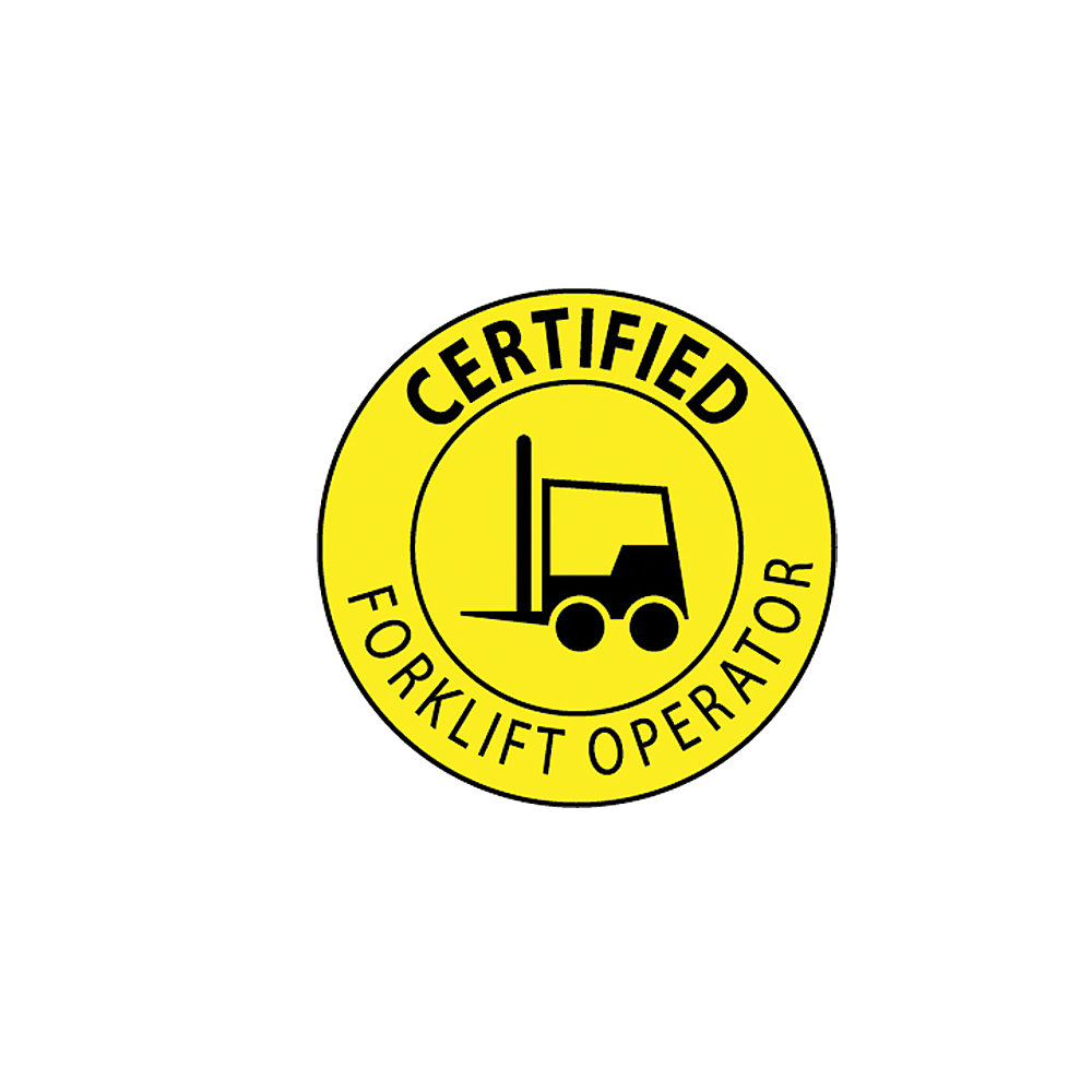 Nmc Forklift Hard Hat Emblems - 2
