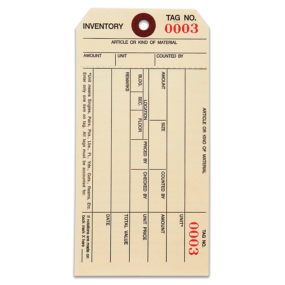 inventory tag