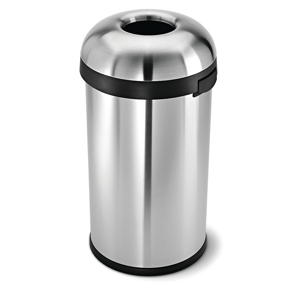 SIMPLEHUMAN Stainless Steel Bullet Waste Containers- Narrow Opening (B) - Stainless Steel