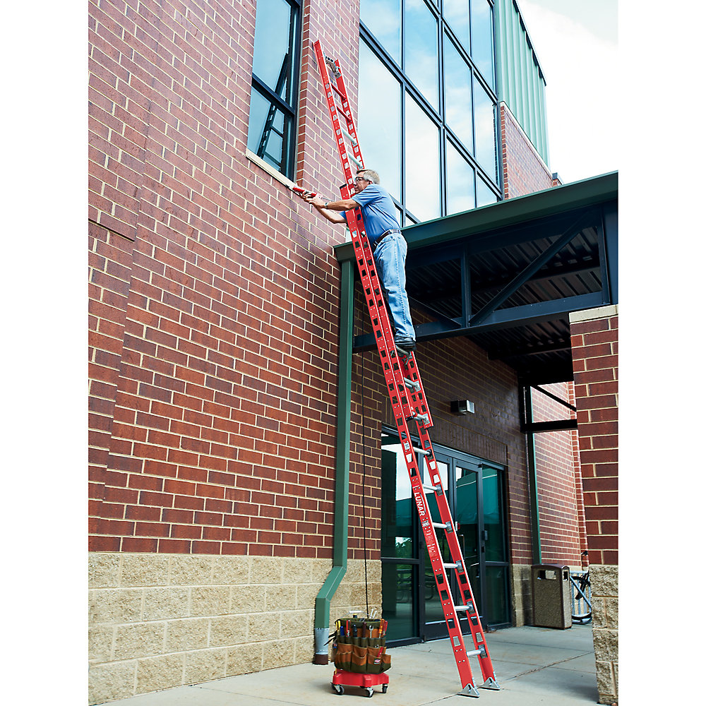 Little Giant Lunar Extension Ladders - 300-Lb. Capacity - With Cable Hooks And V-Rungs