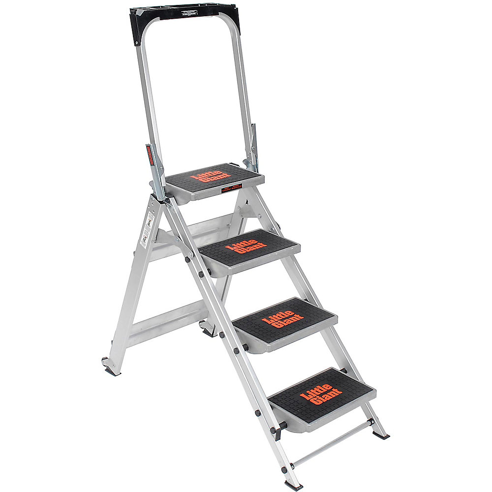 Little Giant Safety Step Ladder - Four Steps - 22-1/2 X45x54-1/2""