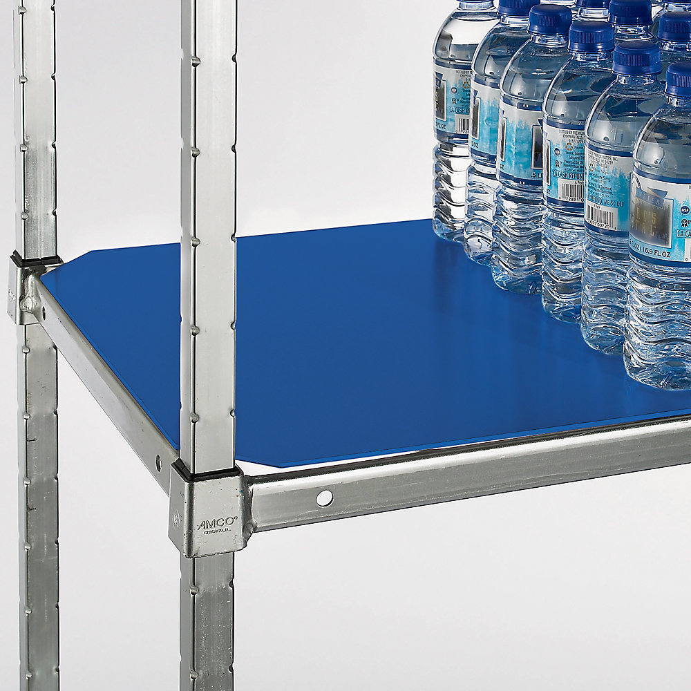 RELIUS SOLUTIONS PVC Shelf Liners for Square Post Shelving - 48x18' - Blue