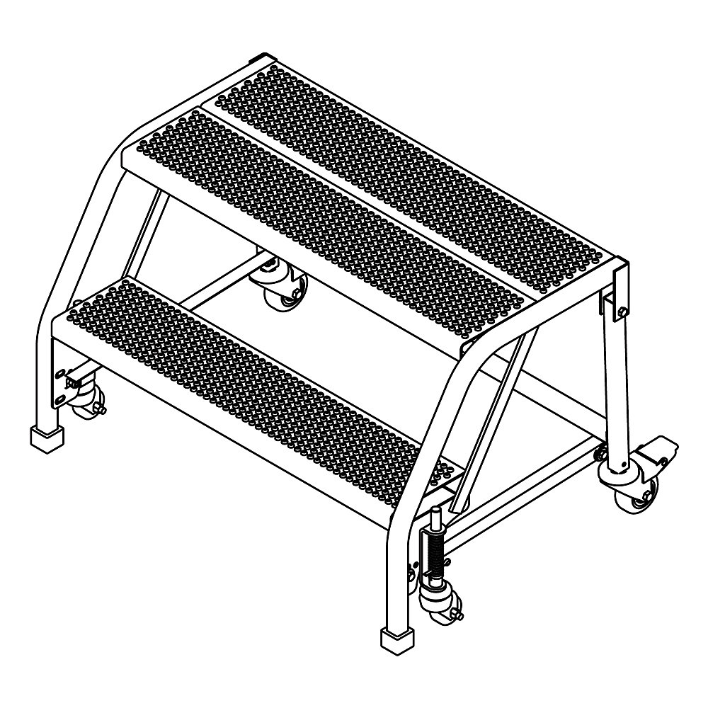 relius solutions 60-degree standard slope ladders - 2 steps - without handrails