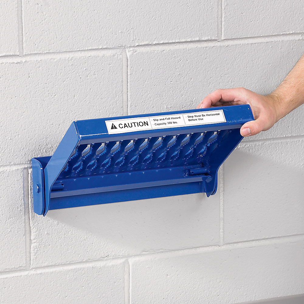 Relius Solutions Steel Fold-Up Step - 1 Step - Blue