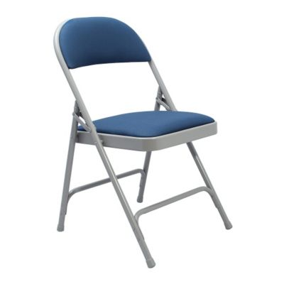 upholstered folding chairs wood fabric upholstered folding chair 1812 x20x31u2033 blue fabricgray frame kmc forklift x20x31