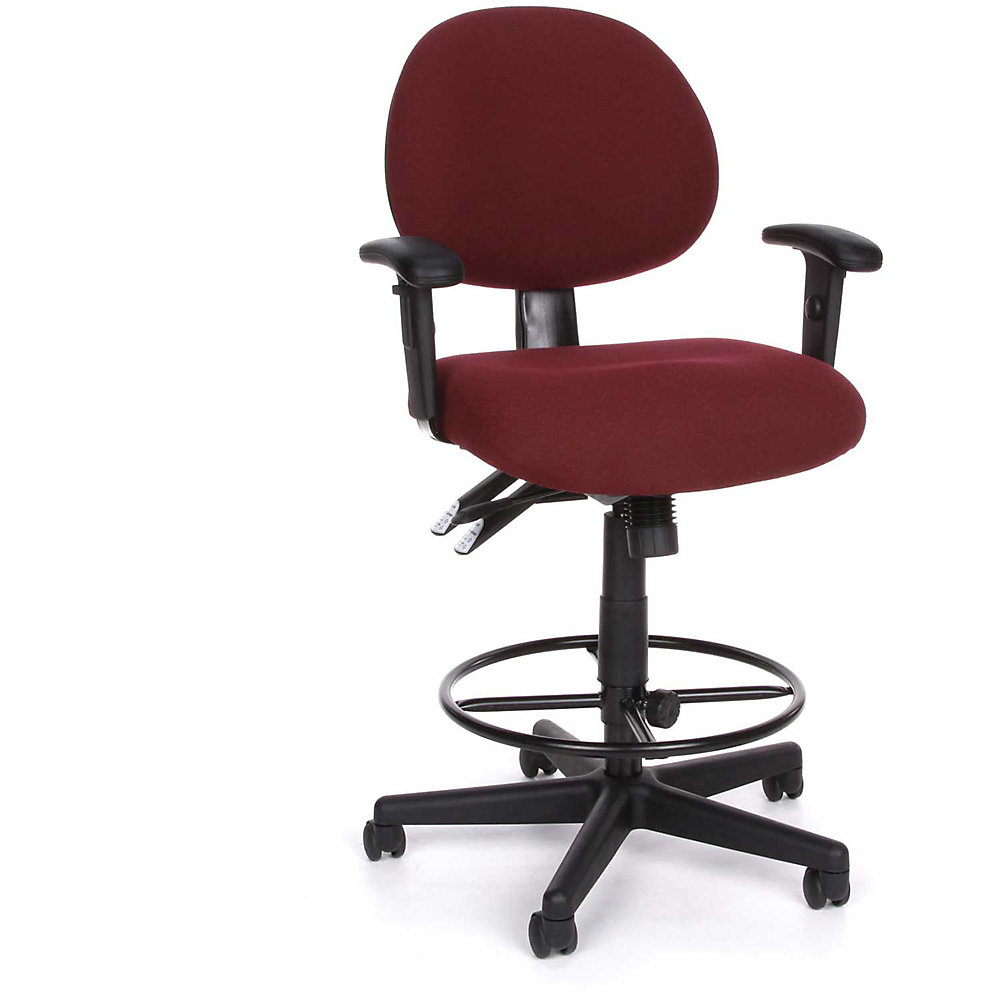 Ofm Continuous-Use Seating - Stool With Arms - 27-31