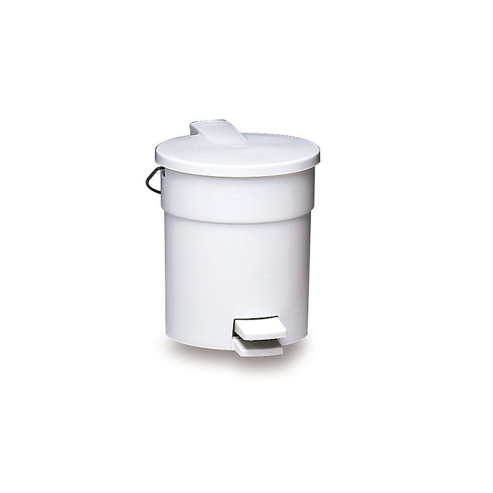 RUBBERMAID® RUBBERMAID Plastic Step-On Container - Round Container with Rigid Liner - 4.5-Gallon Capacity