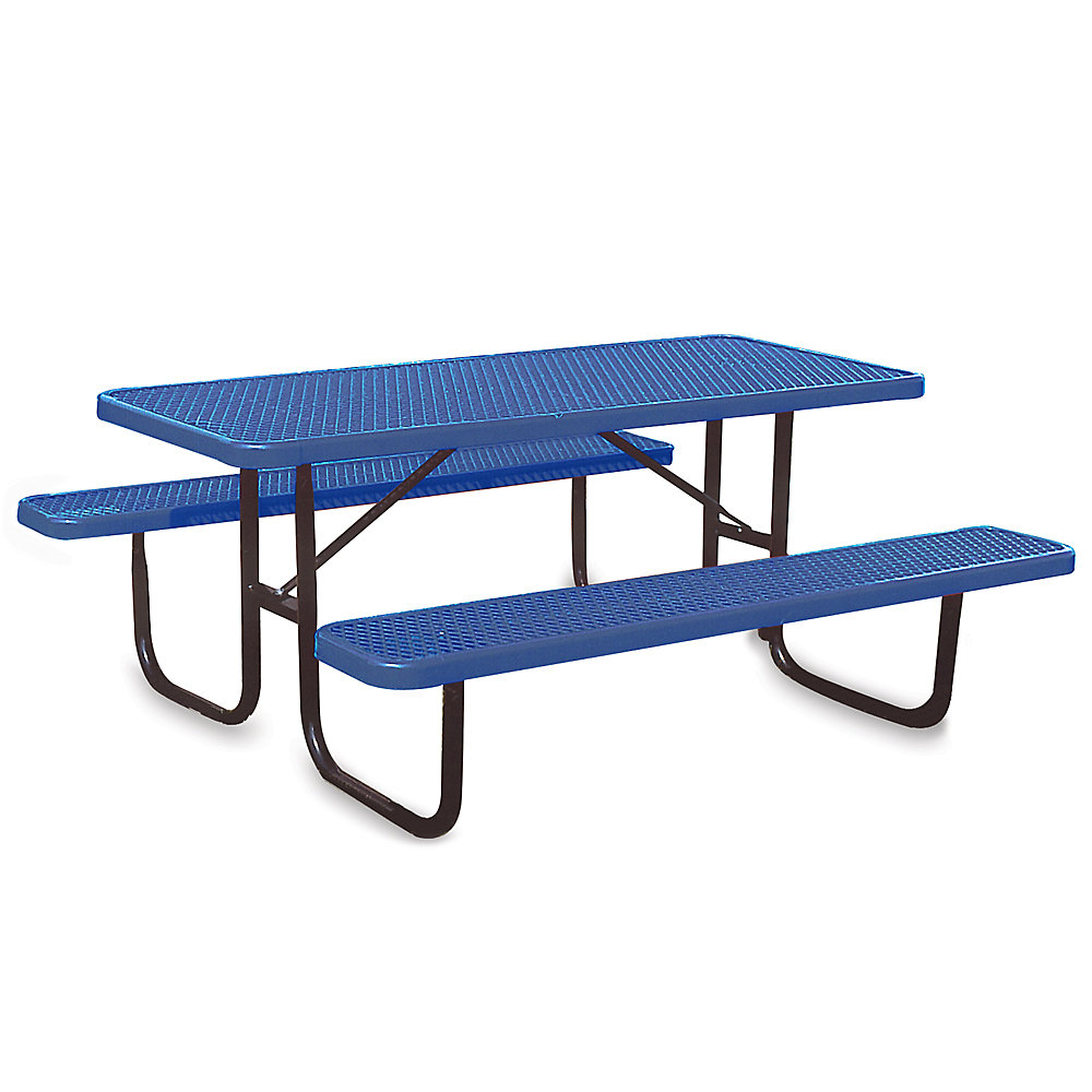 ULTRAPLAY Thermoplastic Coated Steel Picnic Table - 6'L - Standard - Blue