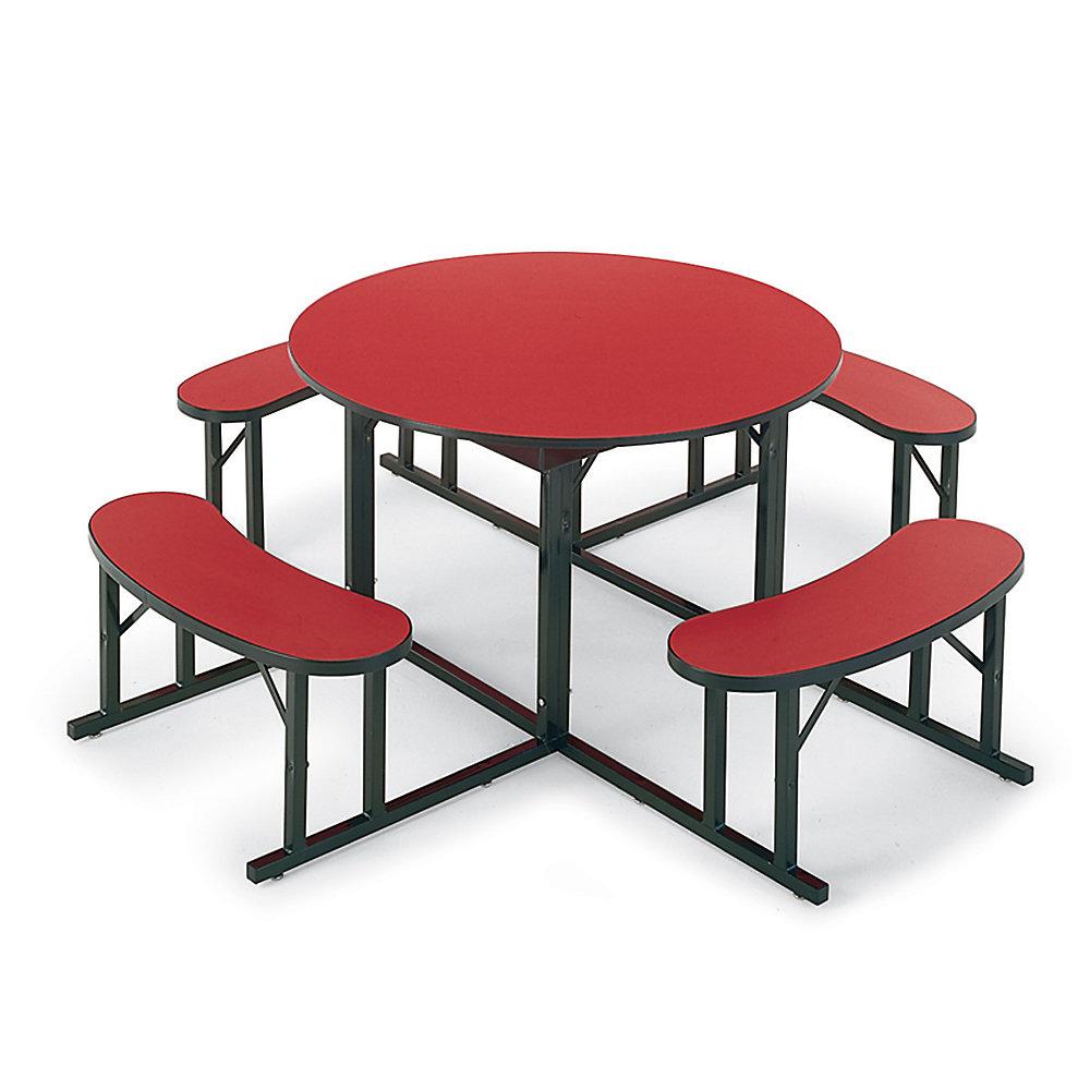 BARRICKS Cafeteria Seating - 48' Diameter - Seats 4-6 Individuals - Blue