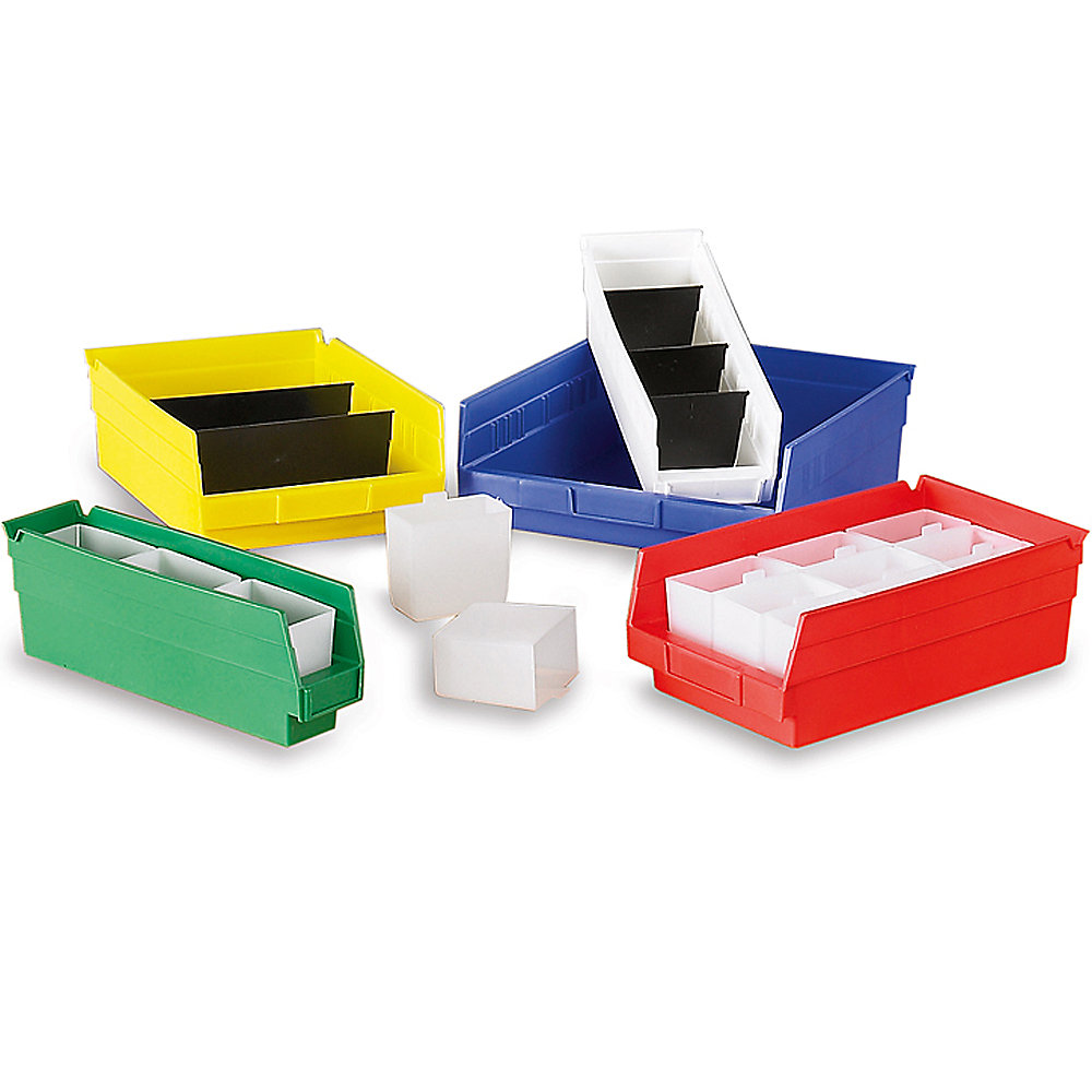 "Akro-Mils Small Parts Shelf Bins - 4-1/8 X17-7/8 X4"" - Green - Green - Lot of 12 (30128GREEN)"