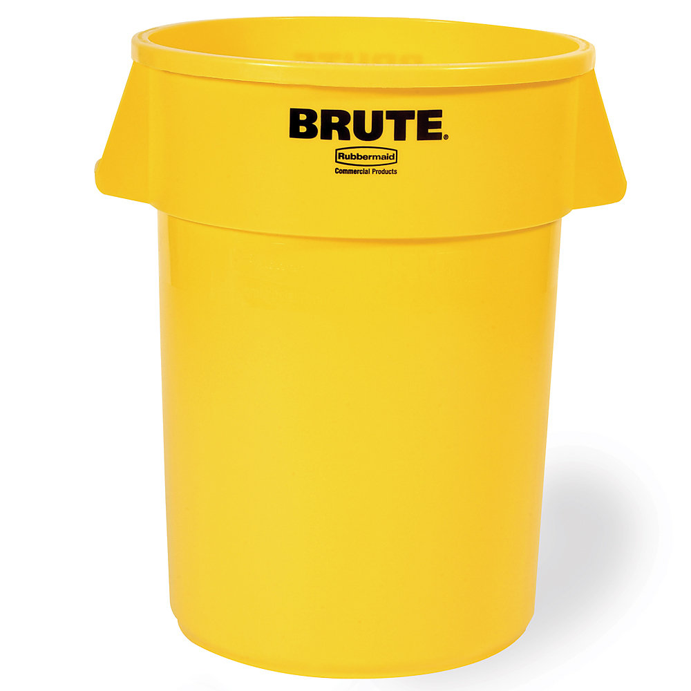 RUBBERMAID® RUBBERMAID BRUTE Round Container - 20-Gallon Capacity - Yellow