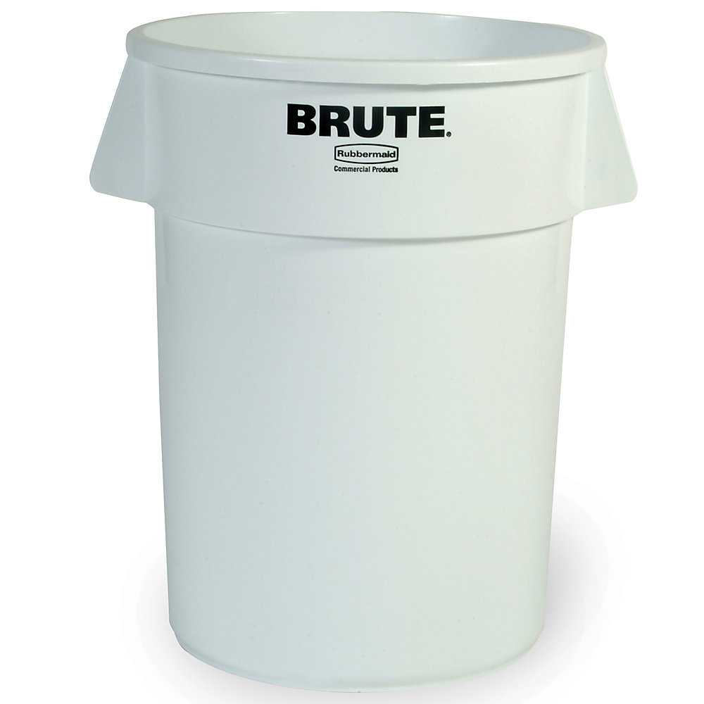 RUBBERMAID® RUBBERMAID BRUTE Round Container - 10-Gallon Capacity - White
