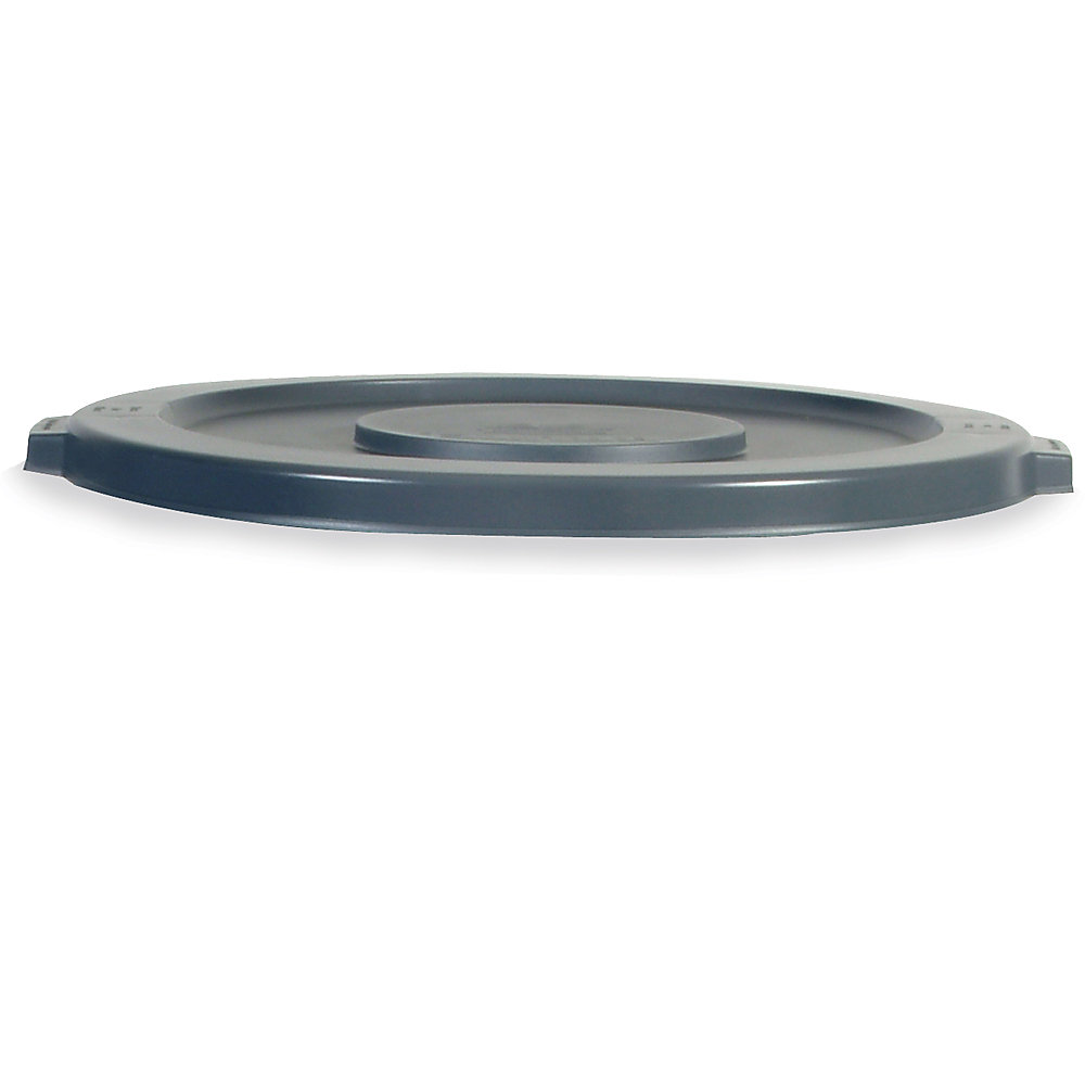 RUBBERMAID BRUTE Flat Lid for 10-Gallon Round Containers - Gray