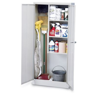 """Шкаф janitorial supplies cabinet - 30x15x66"""" - putty - putty."""