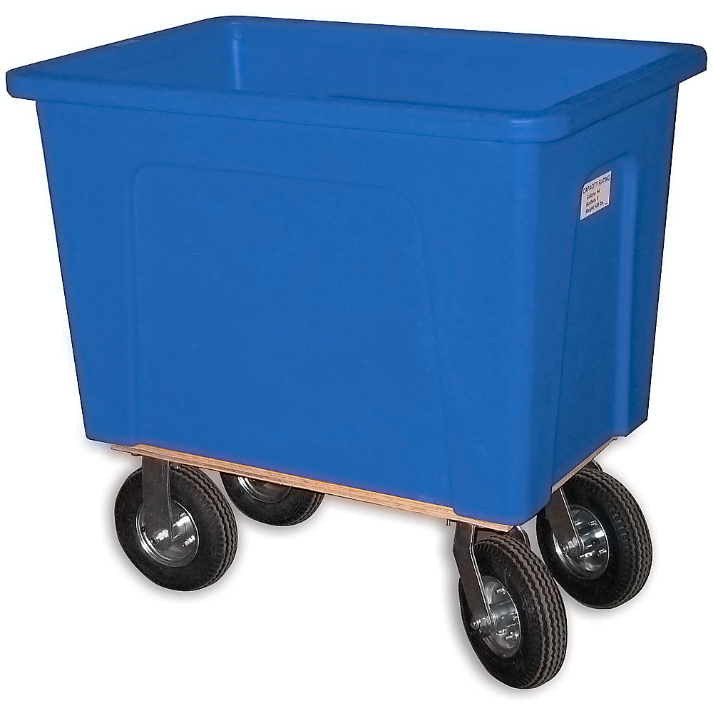 "Wesco Box Trucks - 8"" Pneumatic Casters - 34""Wx46""Dx43-1/2""H - Blue - Blue"