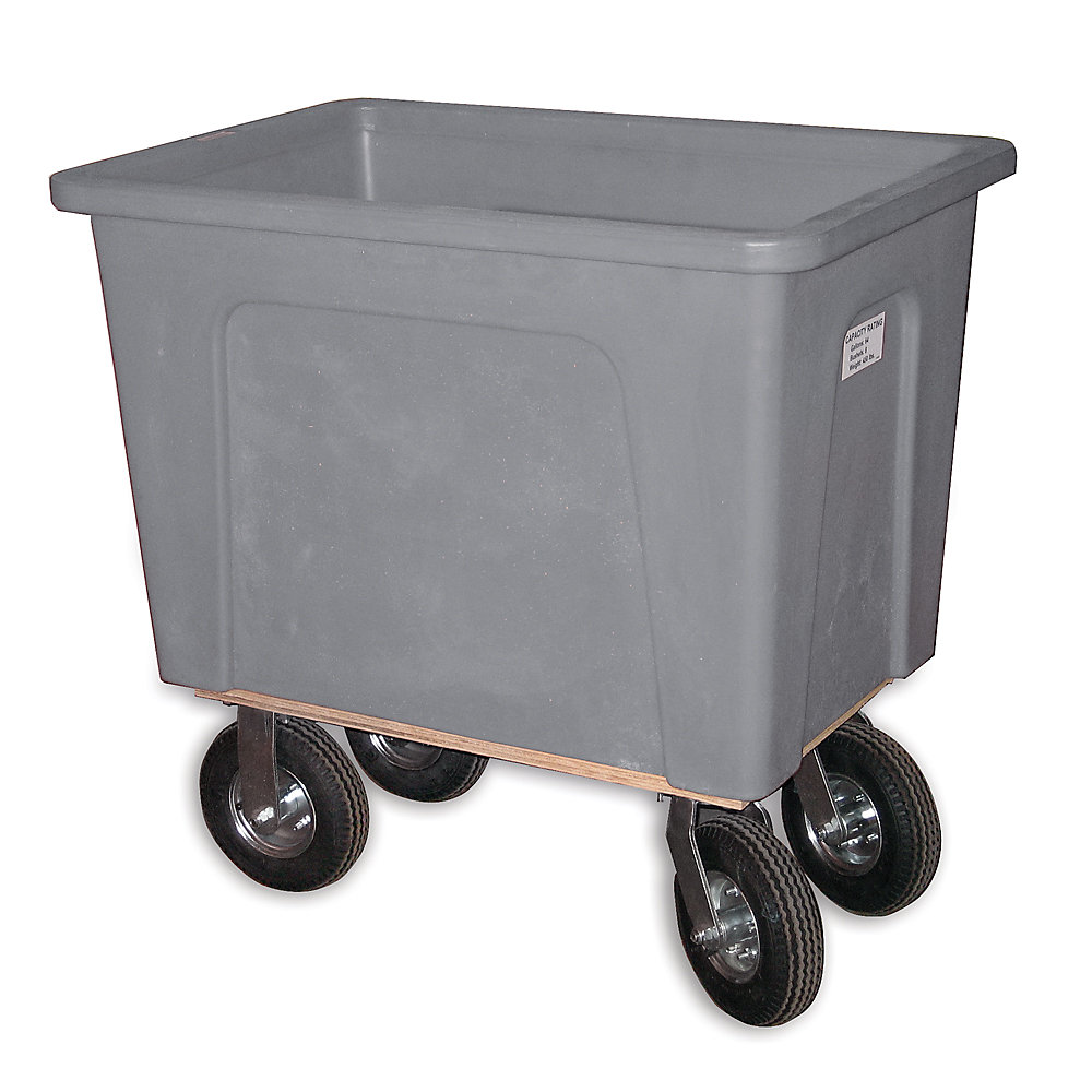 "Wesco Box Trucks - 8"" Pneumatic Casters - 34""Wx46""Dx43-1/2""H - Gray - Gray"